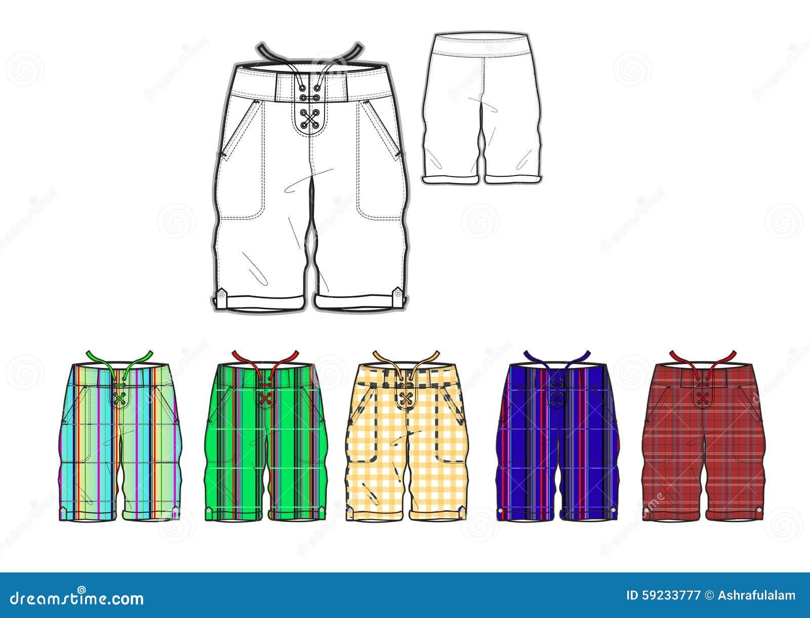 Sirve la plantilla teñida hilado del diseño de los pantalones cortos de Miami