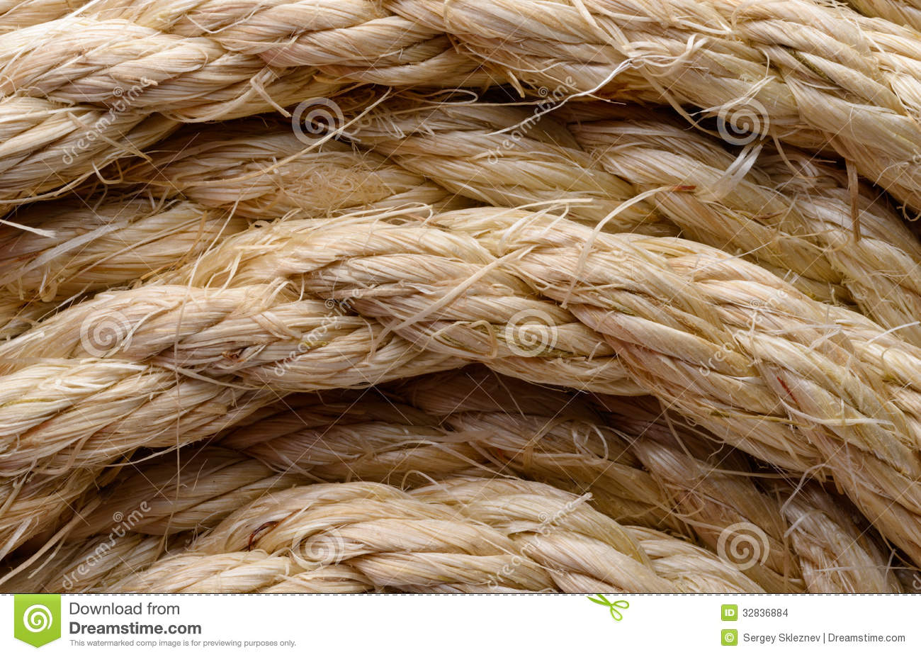 Sisal Rope Stock Images Image 32836884