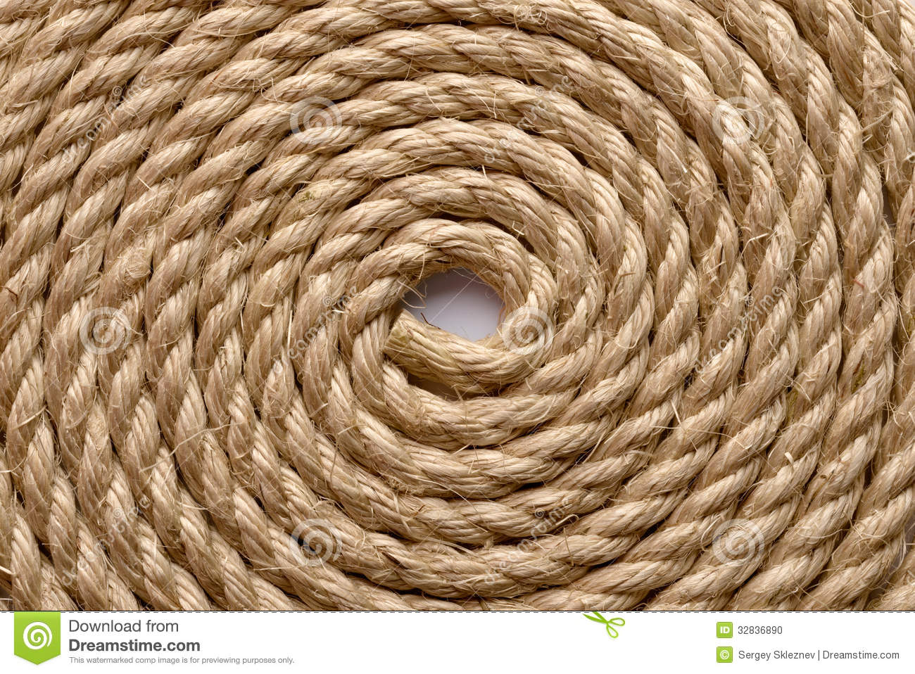 Sisal Rope Stock Photo Image 32836890