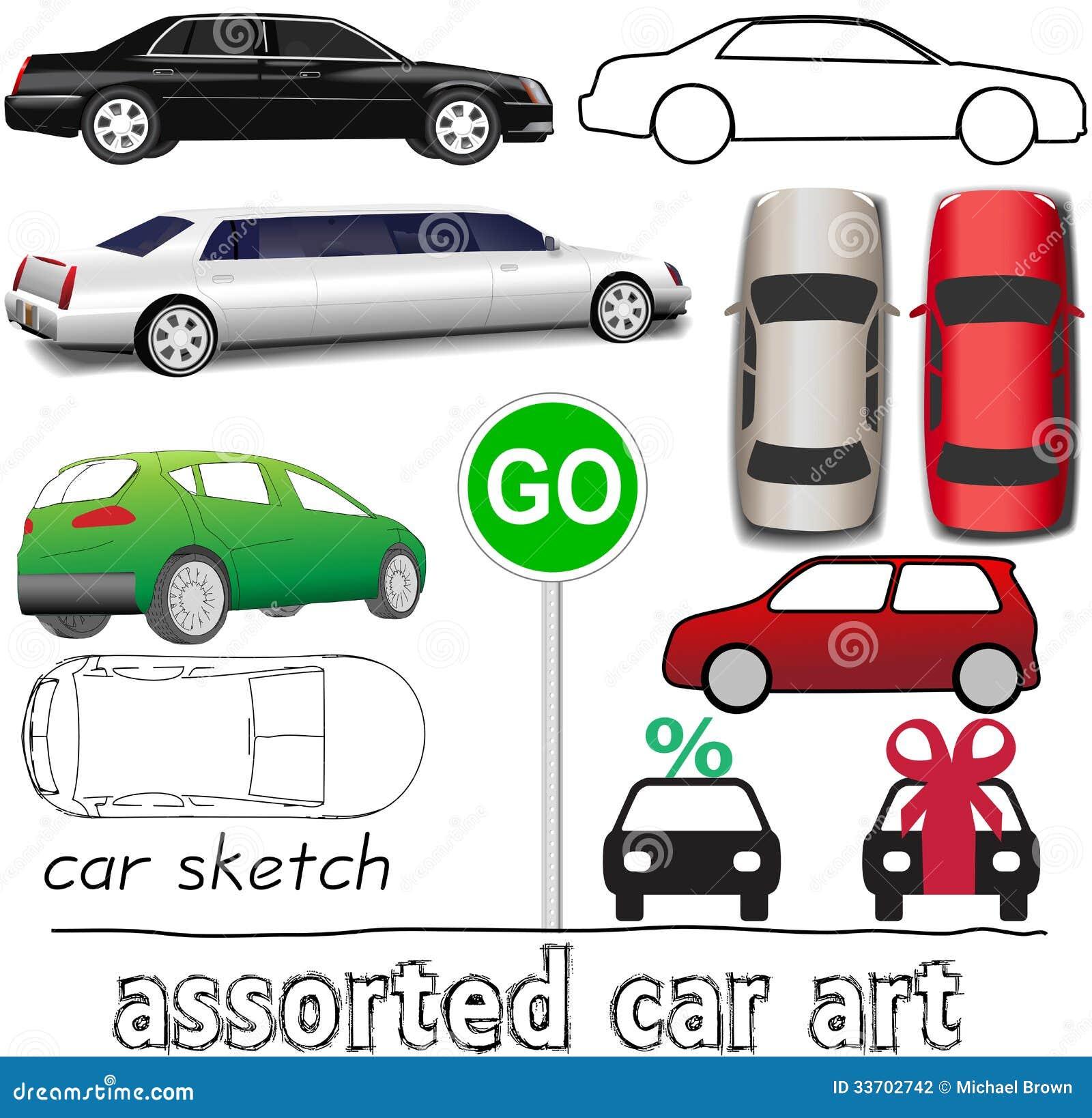 Sistema Auto Del Transporte De Los Símbolos Del Coche Ilustración ...
