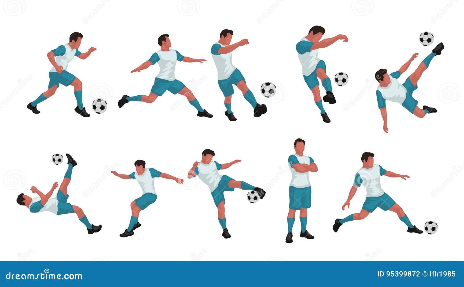 Sistema Coloreado Del Jugador De Fútbol Ilustración del Vector ...