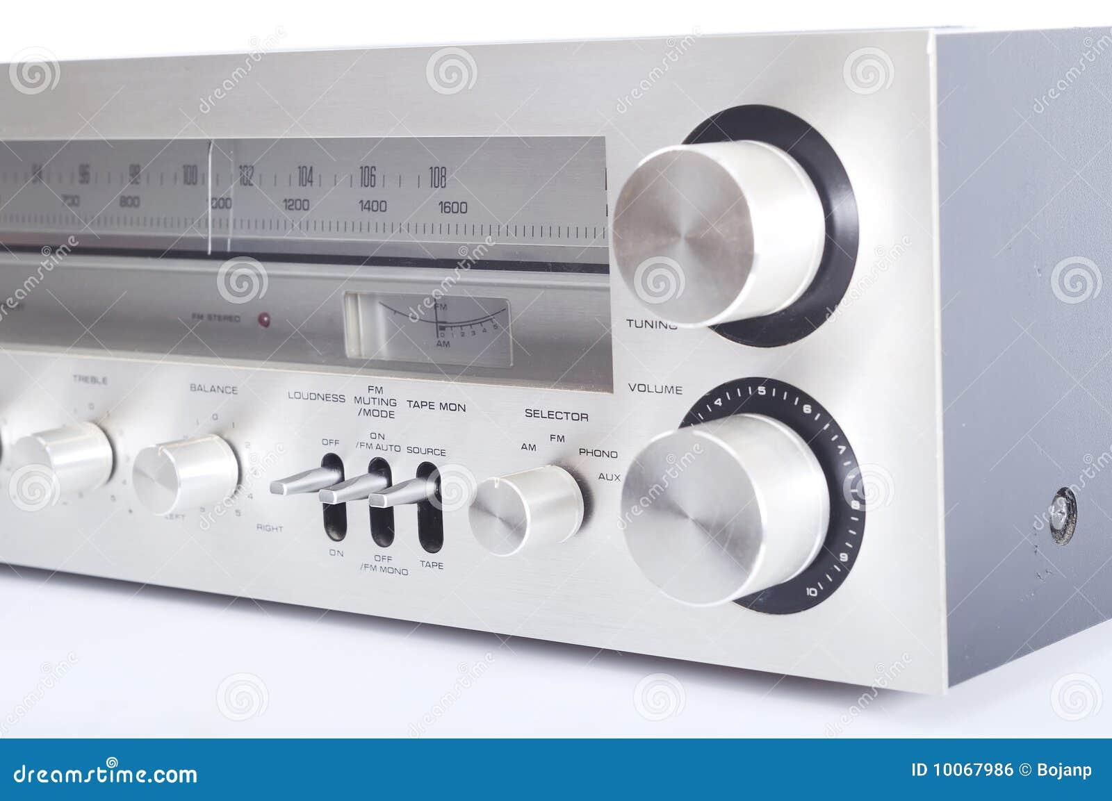 Sistema de áudio de alta fidelidade velho