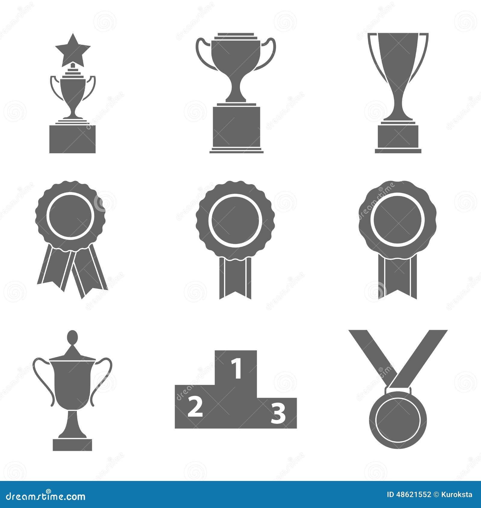 Sistema de éxito del premio y de blanco negro del ` del ` n de la victoria