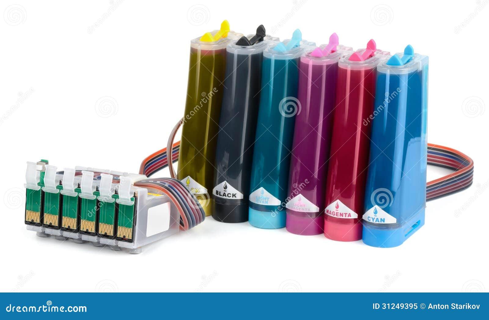 Sistema de abastecimiento continuo de la tinta (CISS)