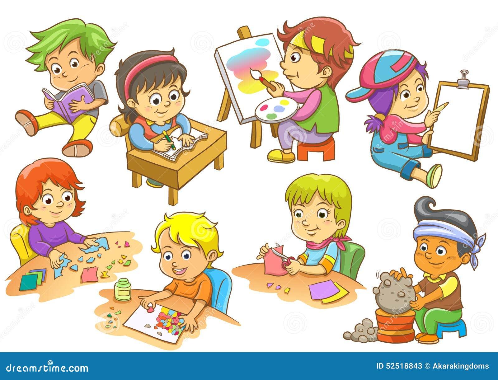 Sistema de actividades del ni o ilustraci n del vector for Actividades para el salon de clases