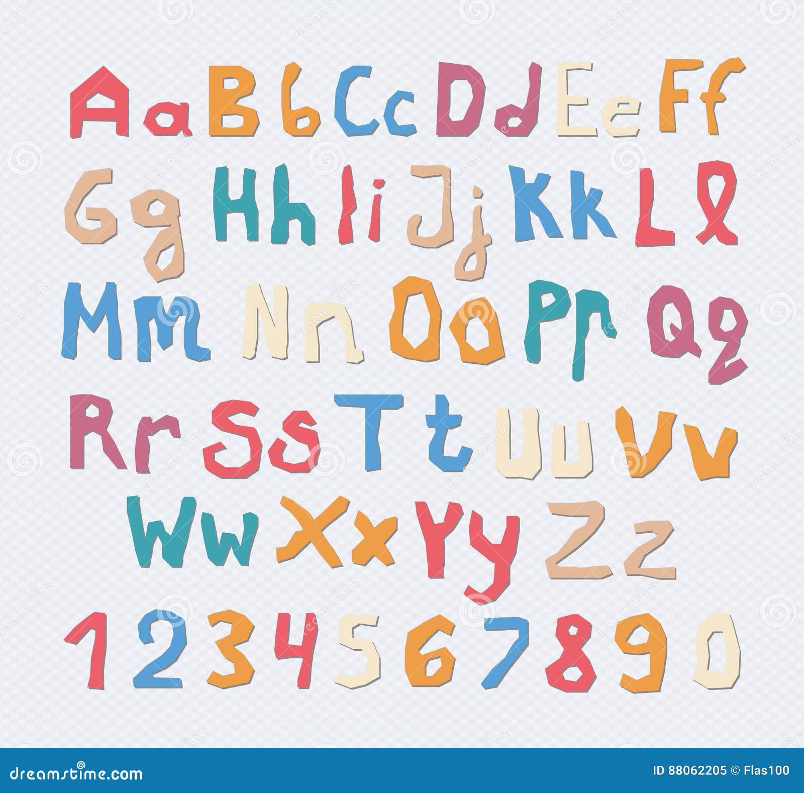Sistema De Capital Colorido, Alfabeto De Las Letras Minúsculas Con ...