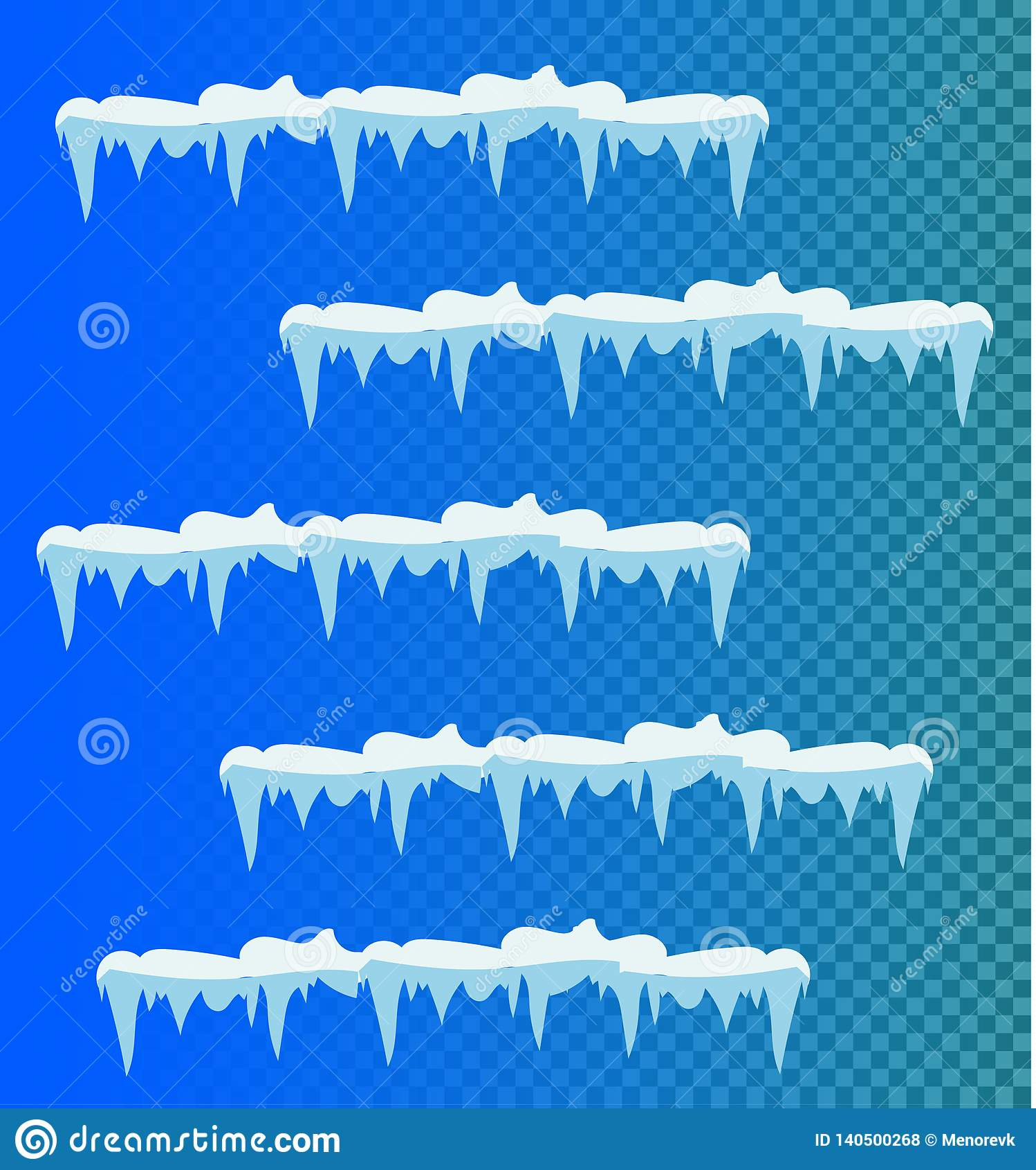 Sistema de carámbanos de la nieve, casquillo de la nieve