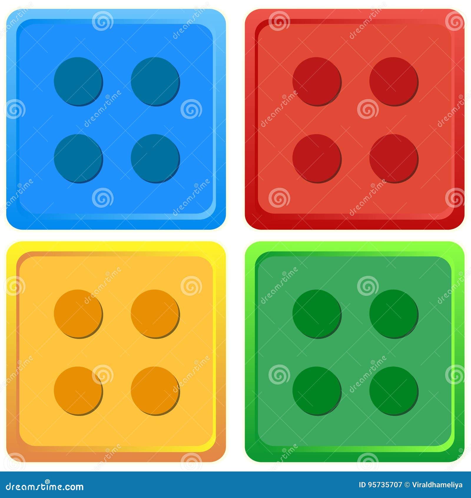 Sistema De Color Coloreado Azul Rojo Amarillo Verde Del