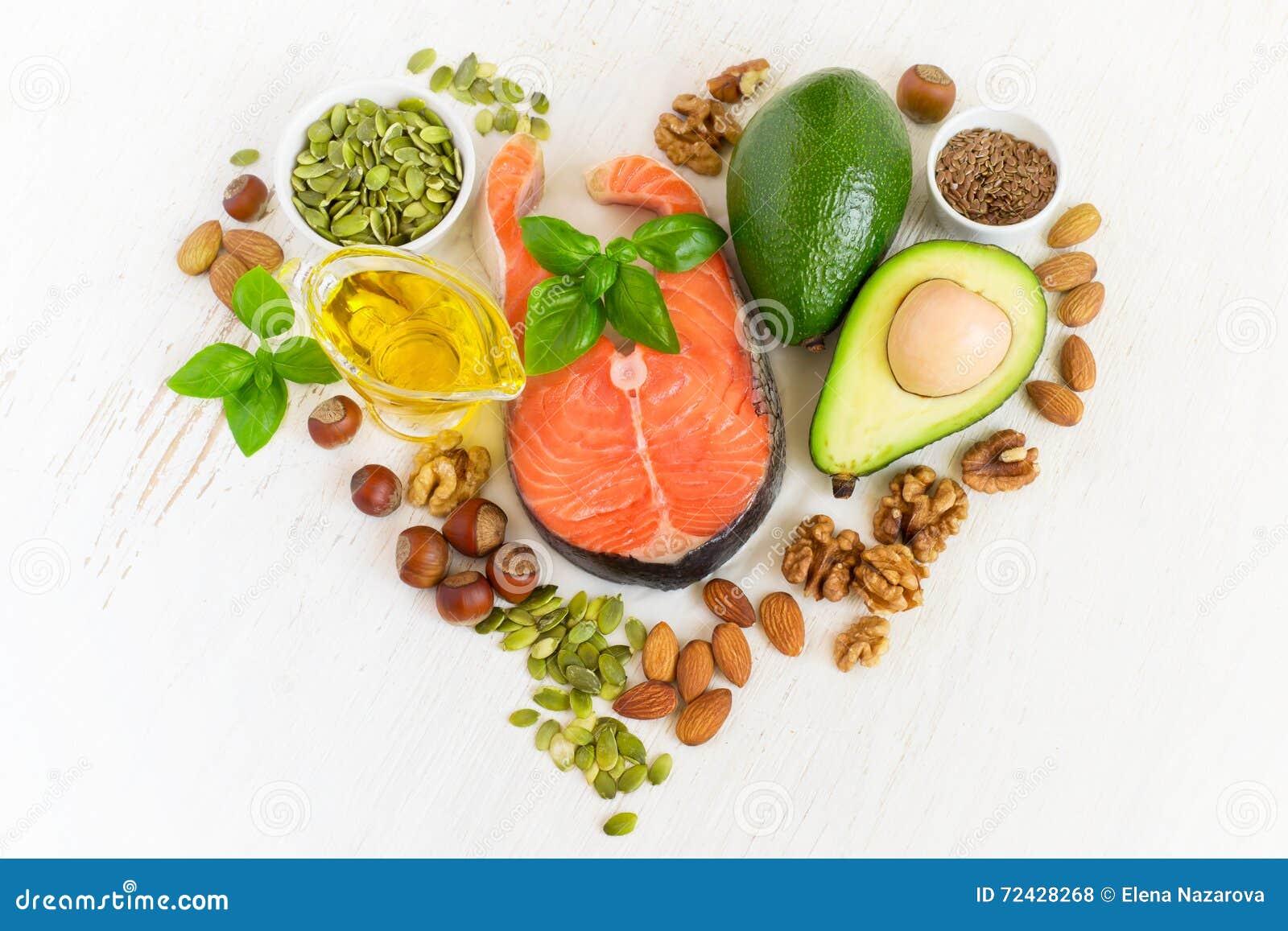 Sistema de comida con las grasas del healthyl y omega-3