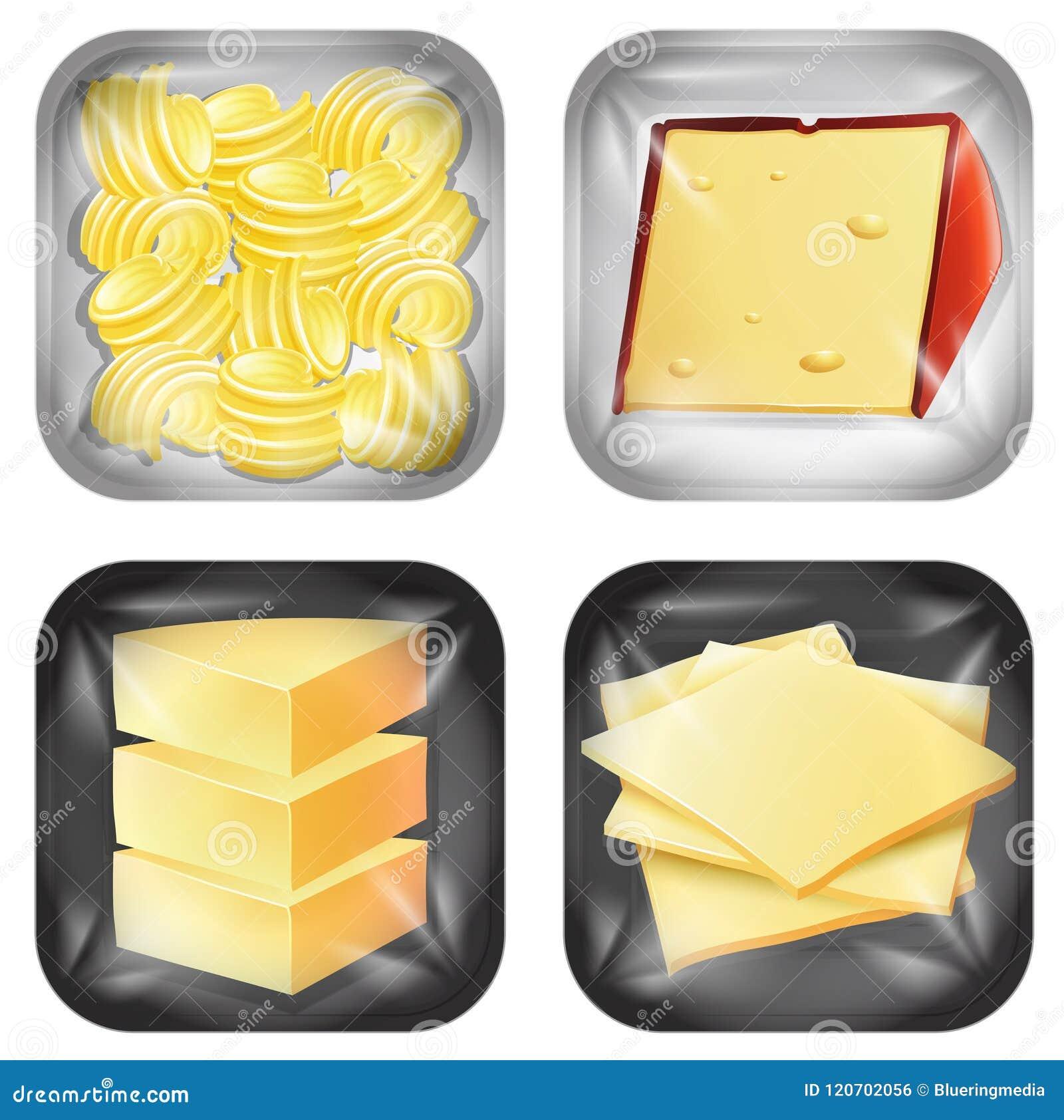 Sistema de comida embalada diversa lechería