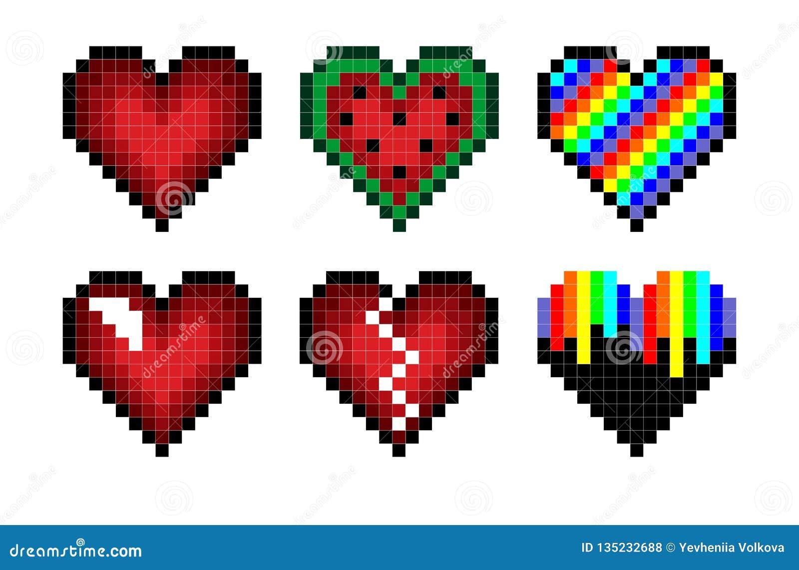 Sistema de corazones del pixel