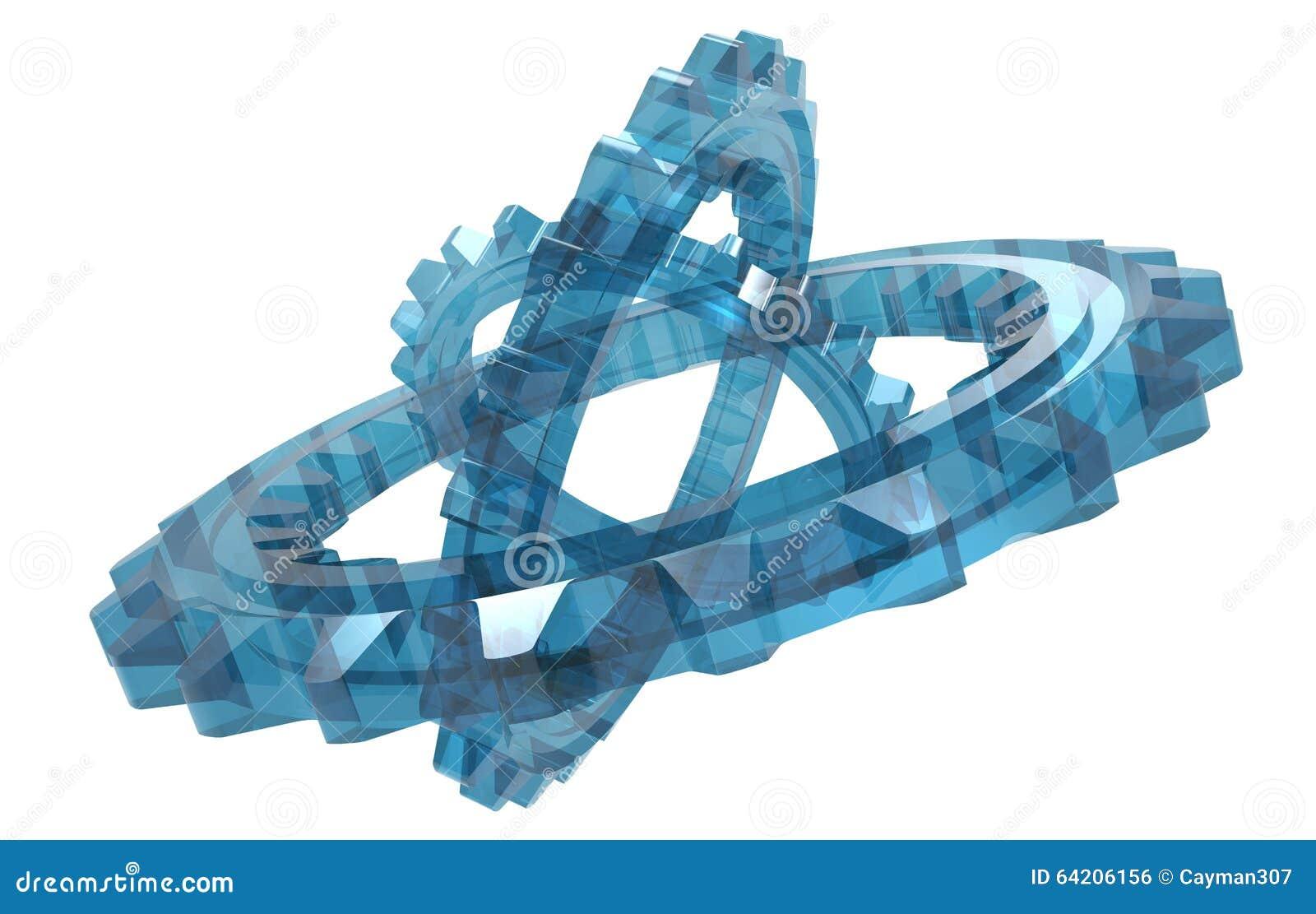 Sistema de cristal de la rueda dentada