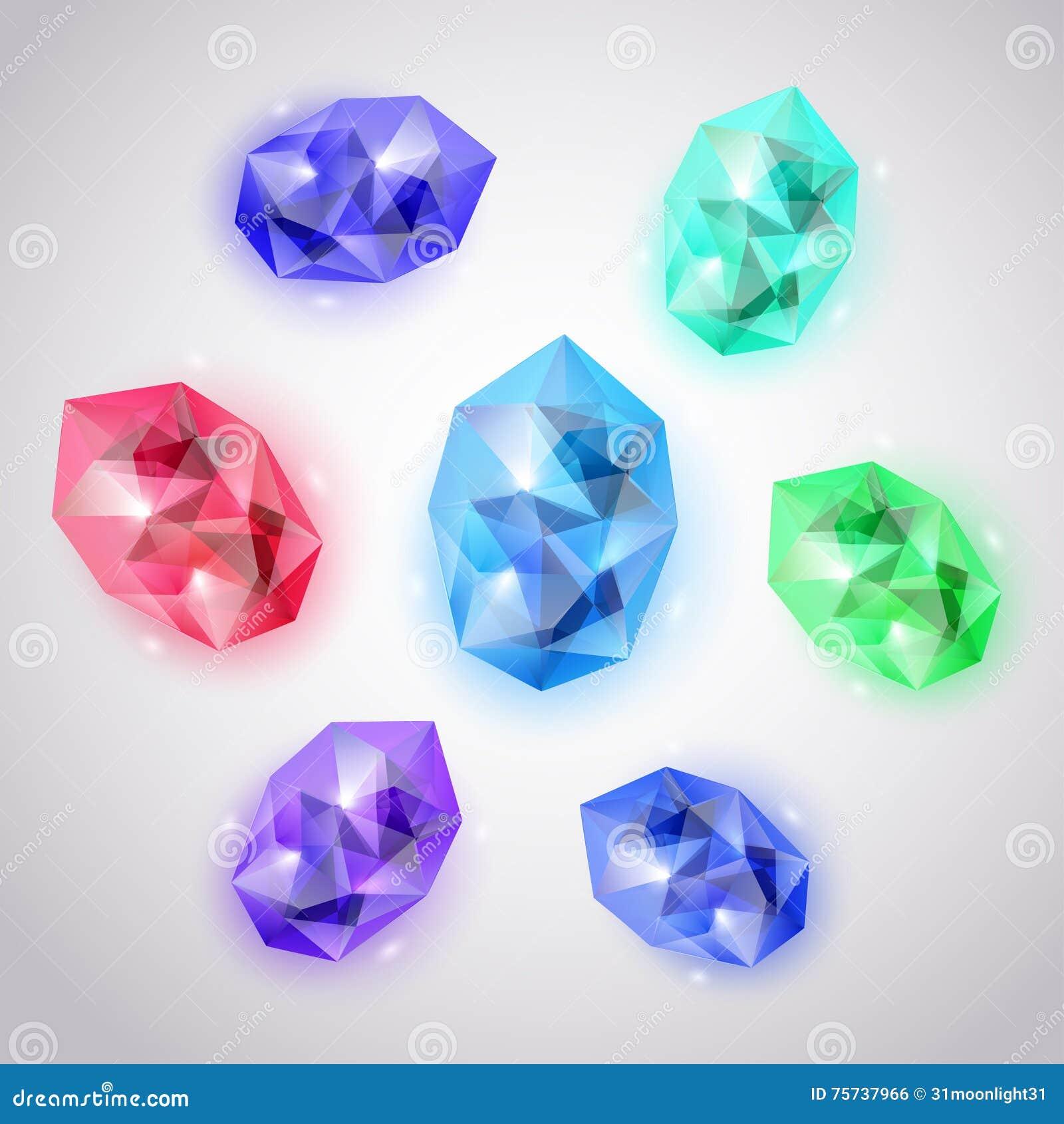 Sistema de cristales coloreados