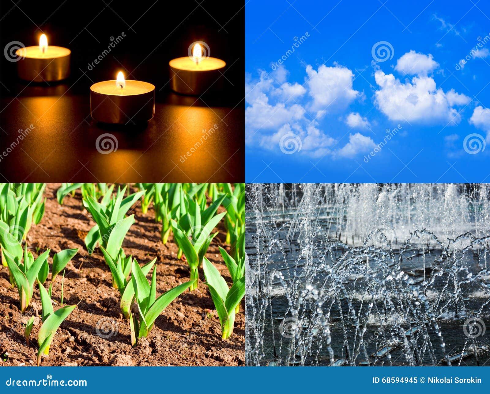 Sistema de cuatro elementos fuego aire tierra agua for Que elementos conforman el suelo