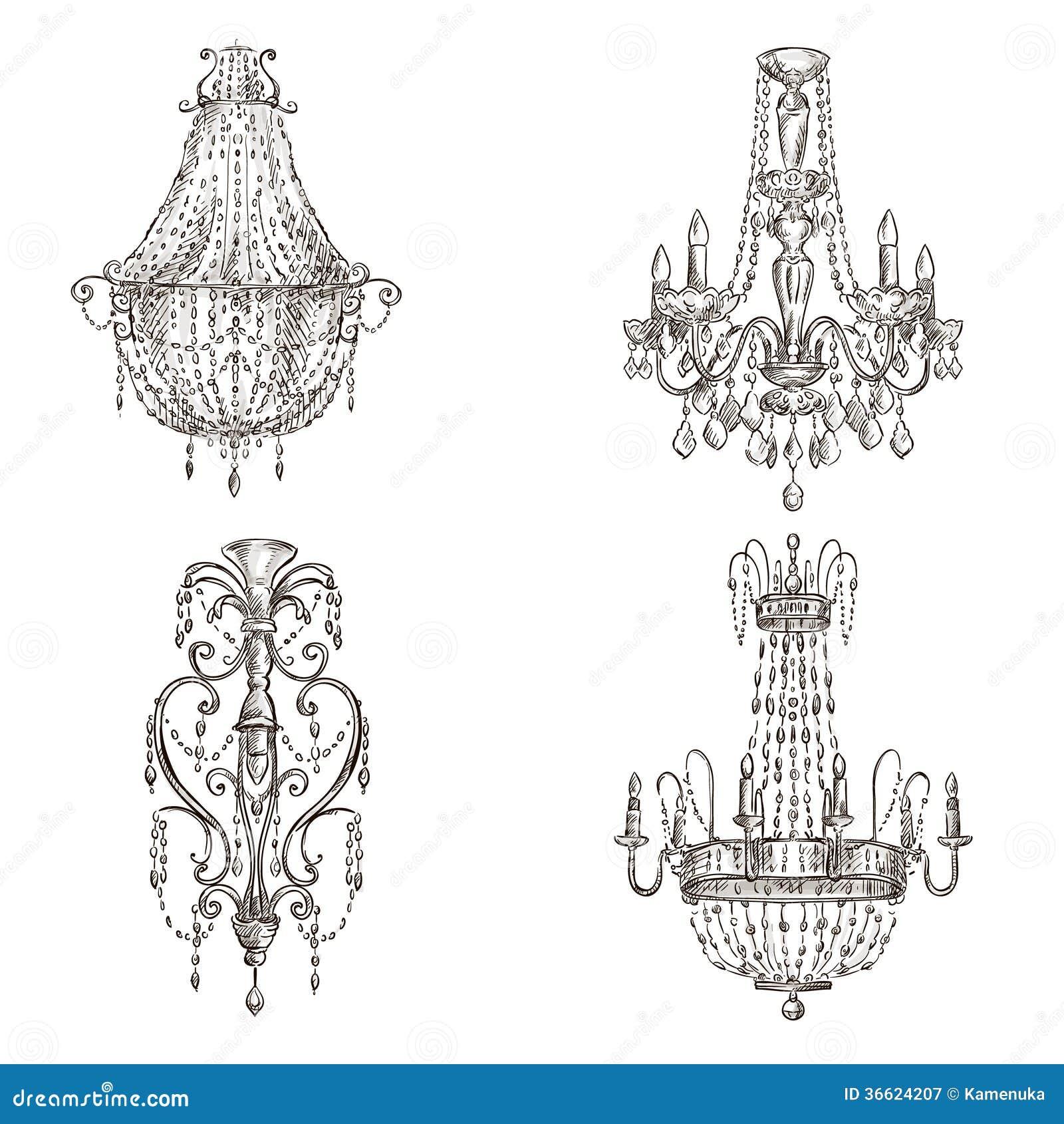 Sistema de dibujos de la lámpara