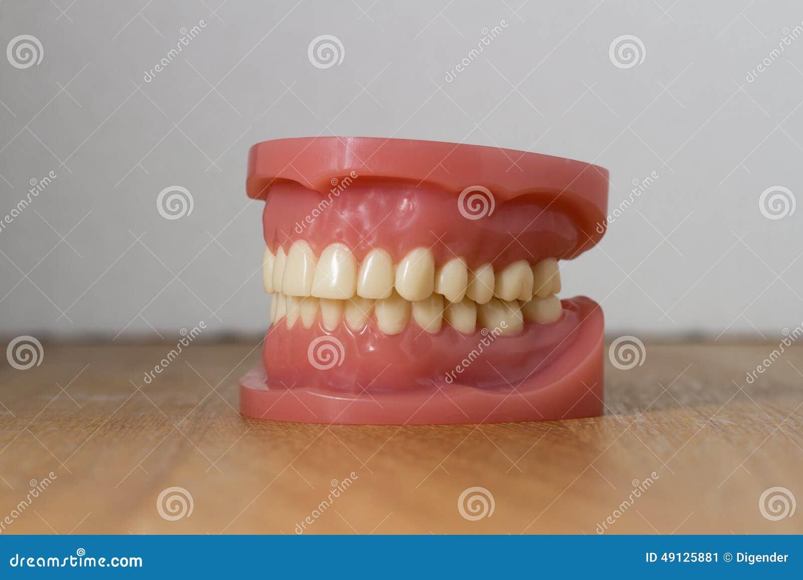 Sistema de dientes falsos artificiales