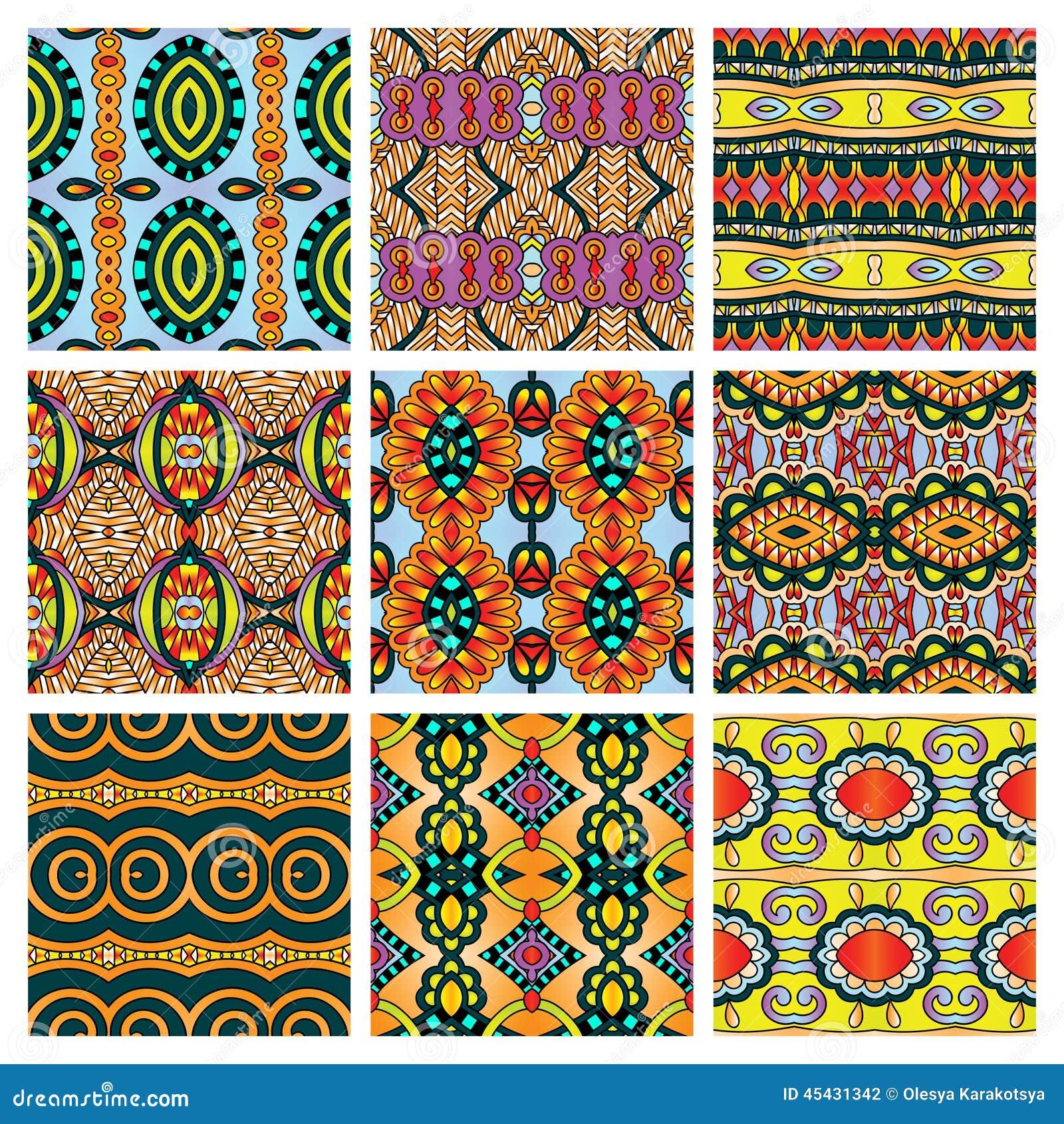 Sistema de diverso vintage coloreado inconsútil