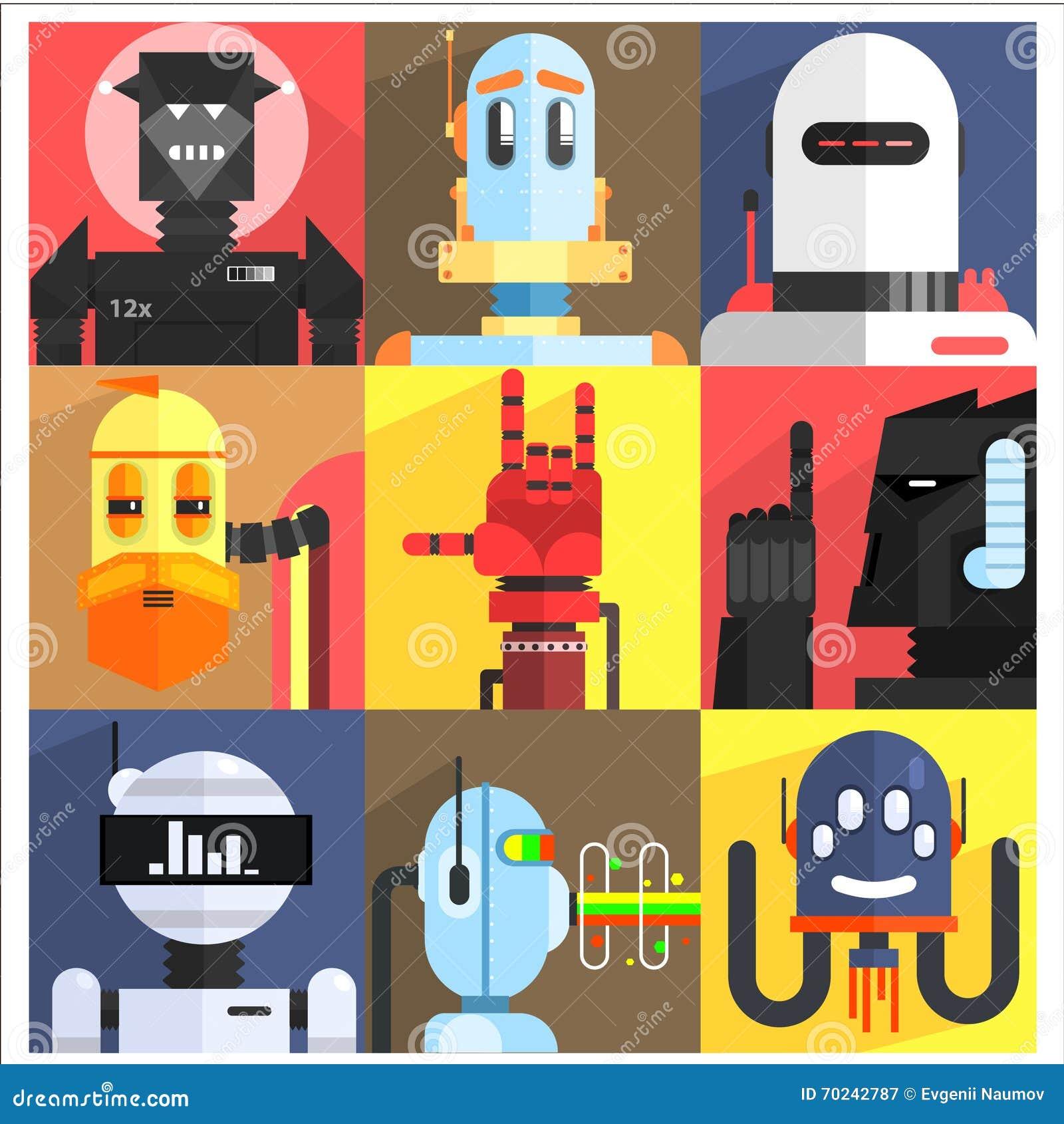 Sistema de diversos robots de la historieta