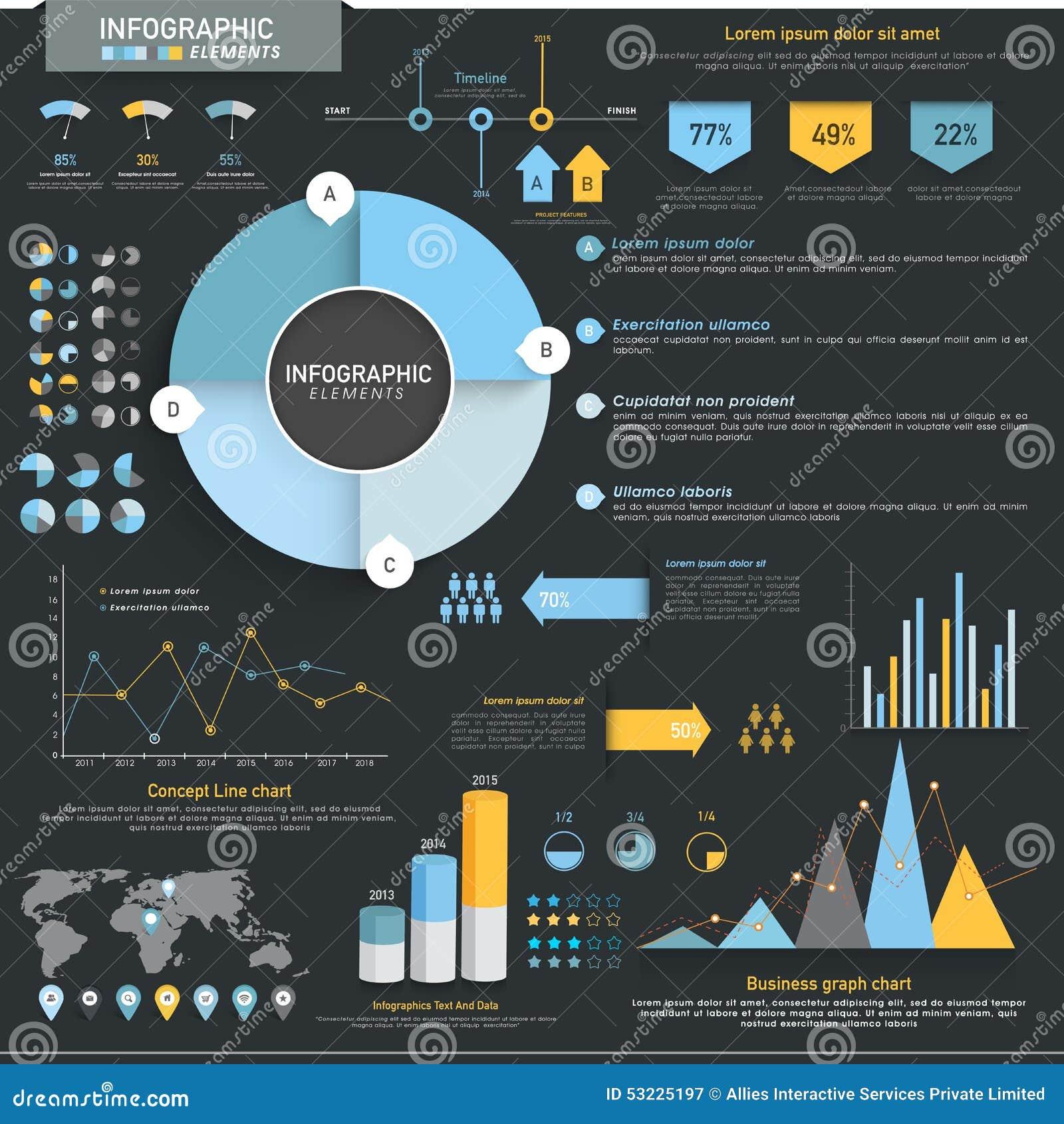 Sistema de elementos de Infographic del negocio