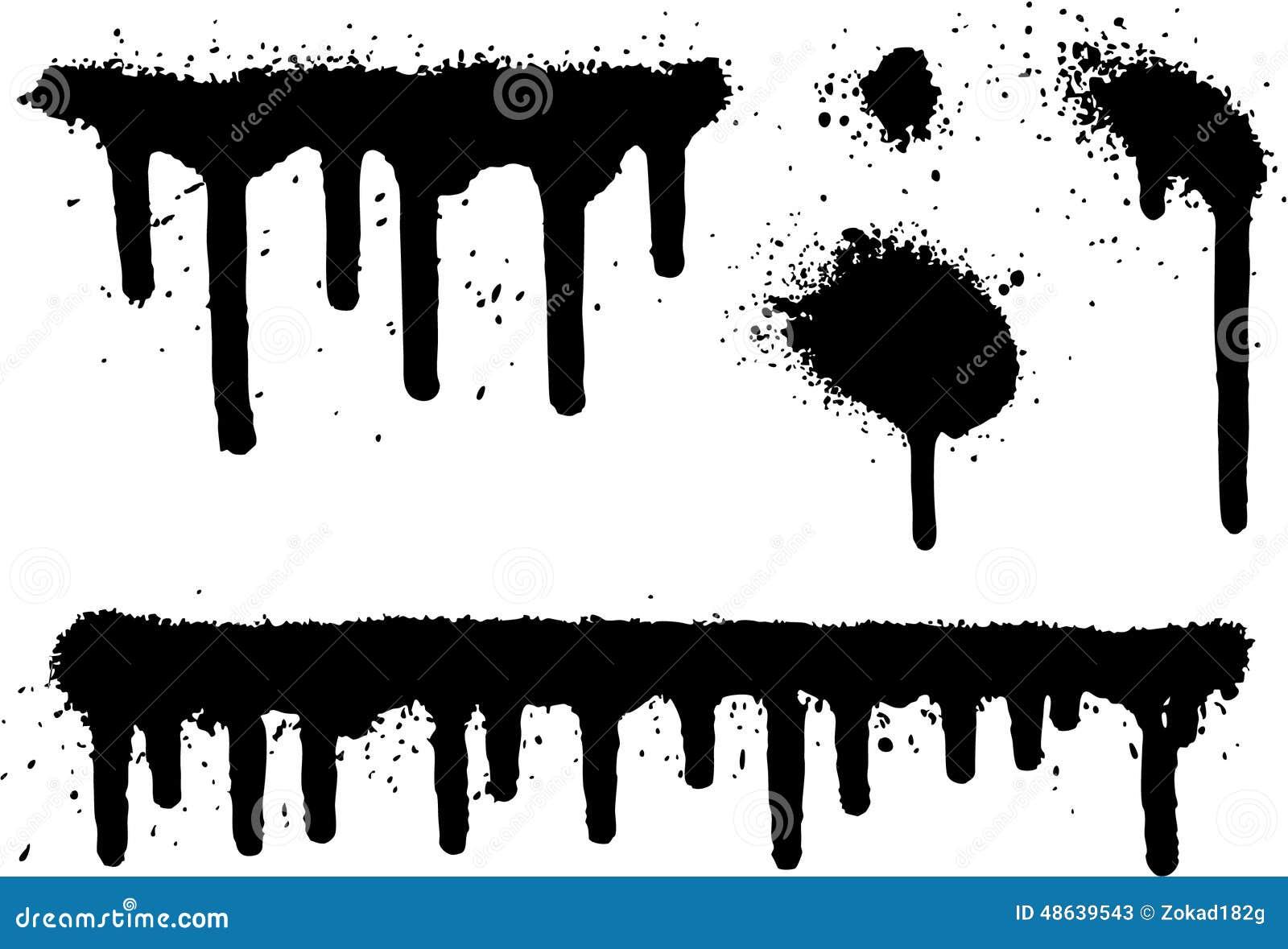 Sistema de elementos de la pintura de espray 04