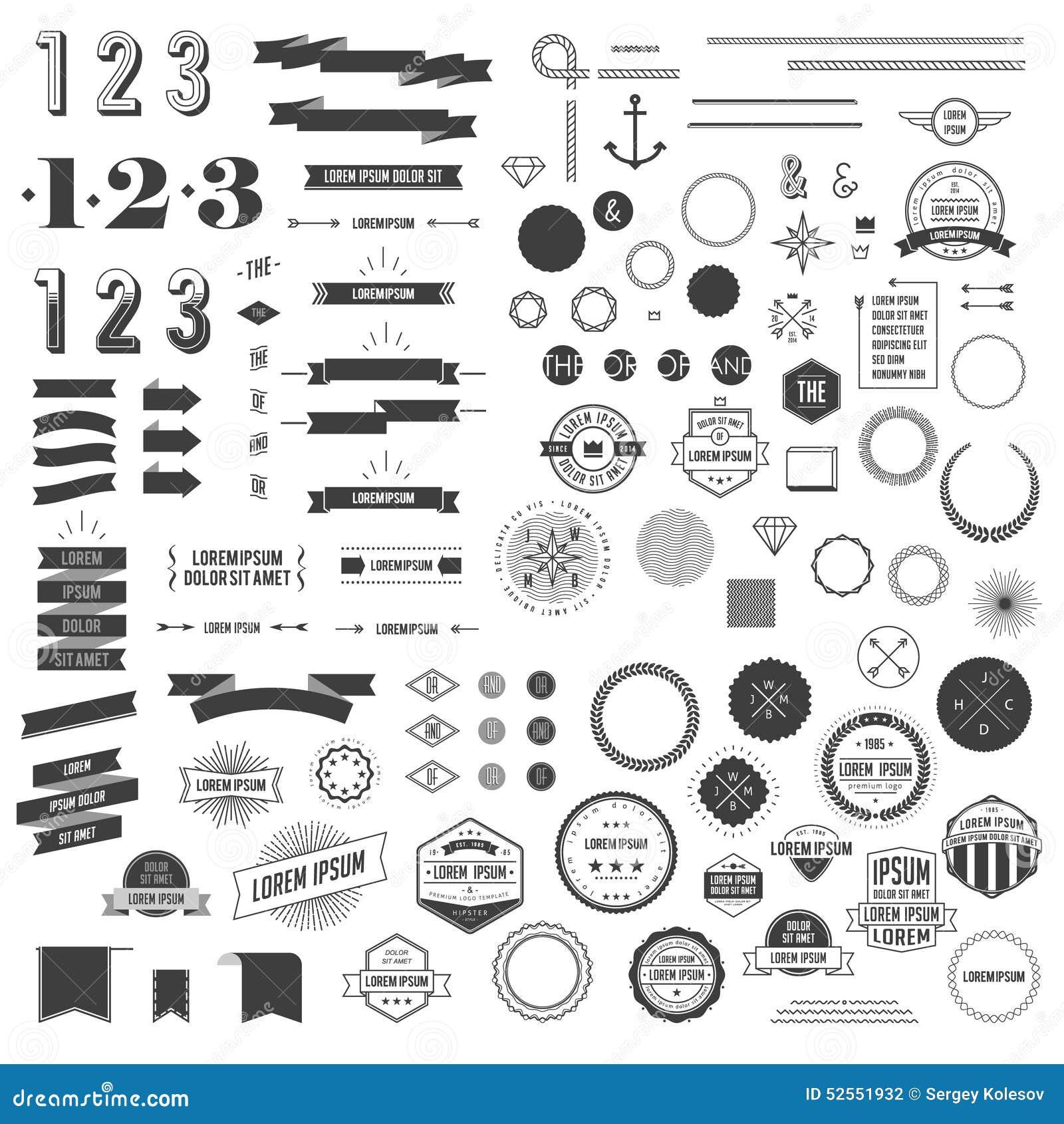 Sistema de elementos del infographics del estilo del inconformista para el diseño retro