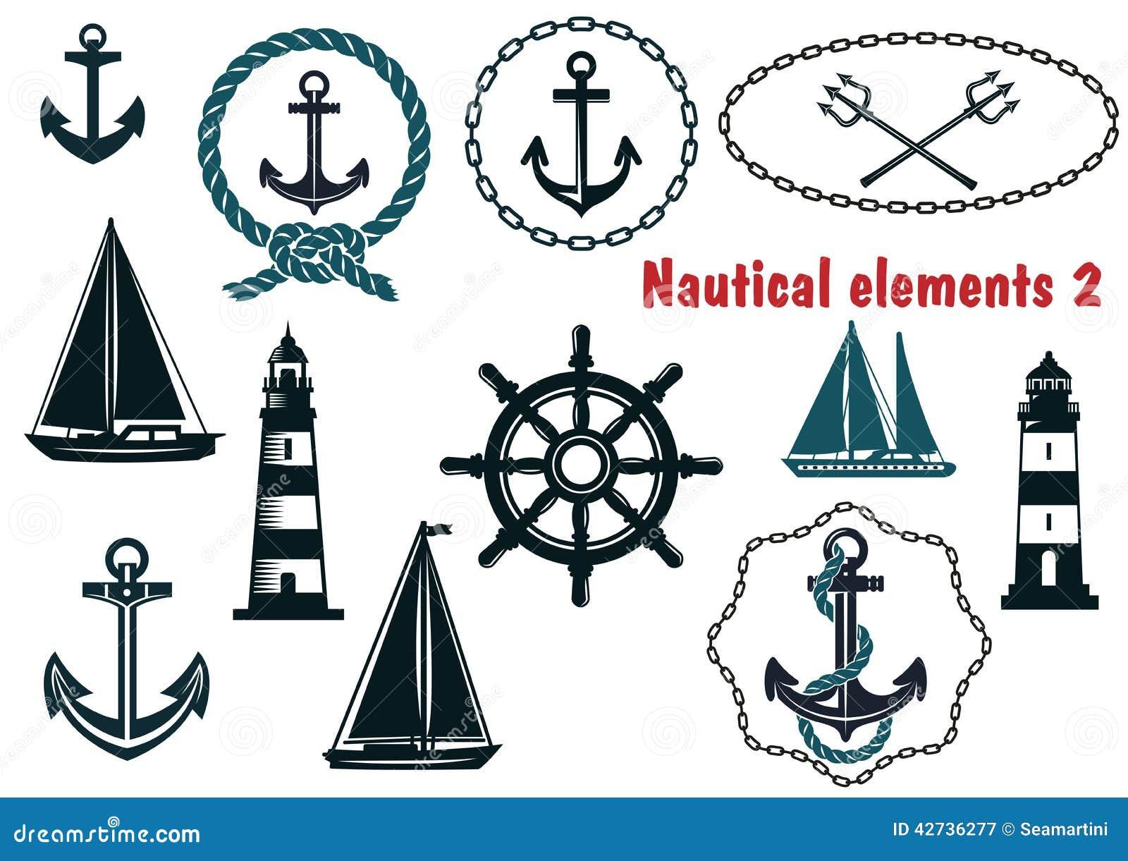 Sistema de elementos temáticos de la heráldica náutica
