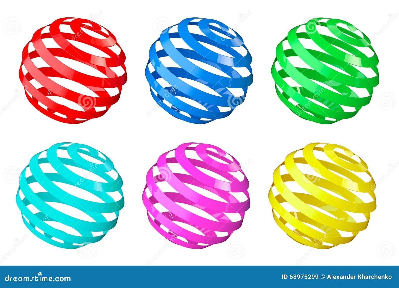 Sistema de esferas espirales abstractas