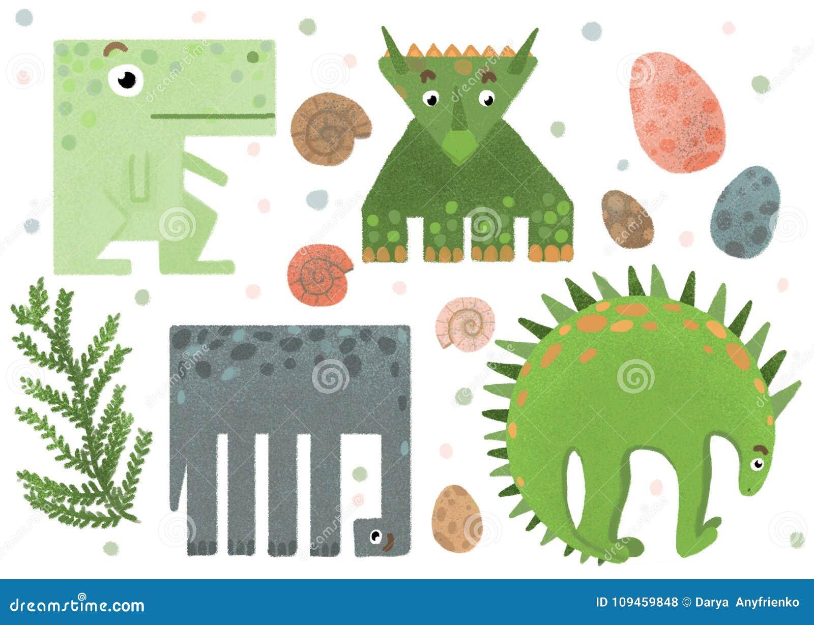 Sistema De Etiquetas Engomadas Divertidas Geometricas Del Dinosaurio Stock De Ilustracion Ilustracion De Dinosaurio Geometricas 109459848 Te compartimos un vector descargable para reproducir la imagen de un dinosaurio formado por figuras geométricas. etiquetas engomadas divertidas