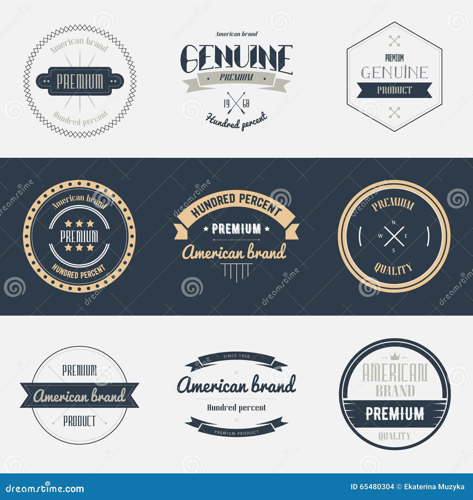 Sistema de etiquetas superior de la calidad Elementos del diseño de marcas