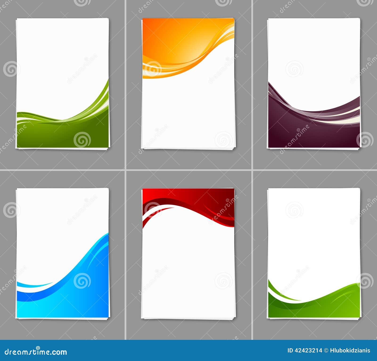 sistema de folletos ondulados ilustración del vector ilustración