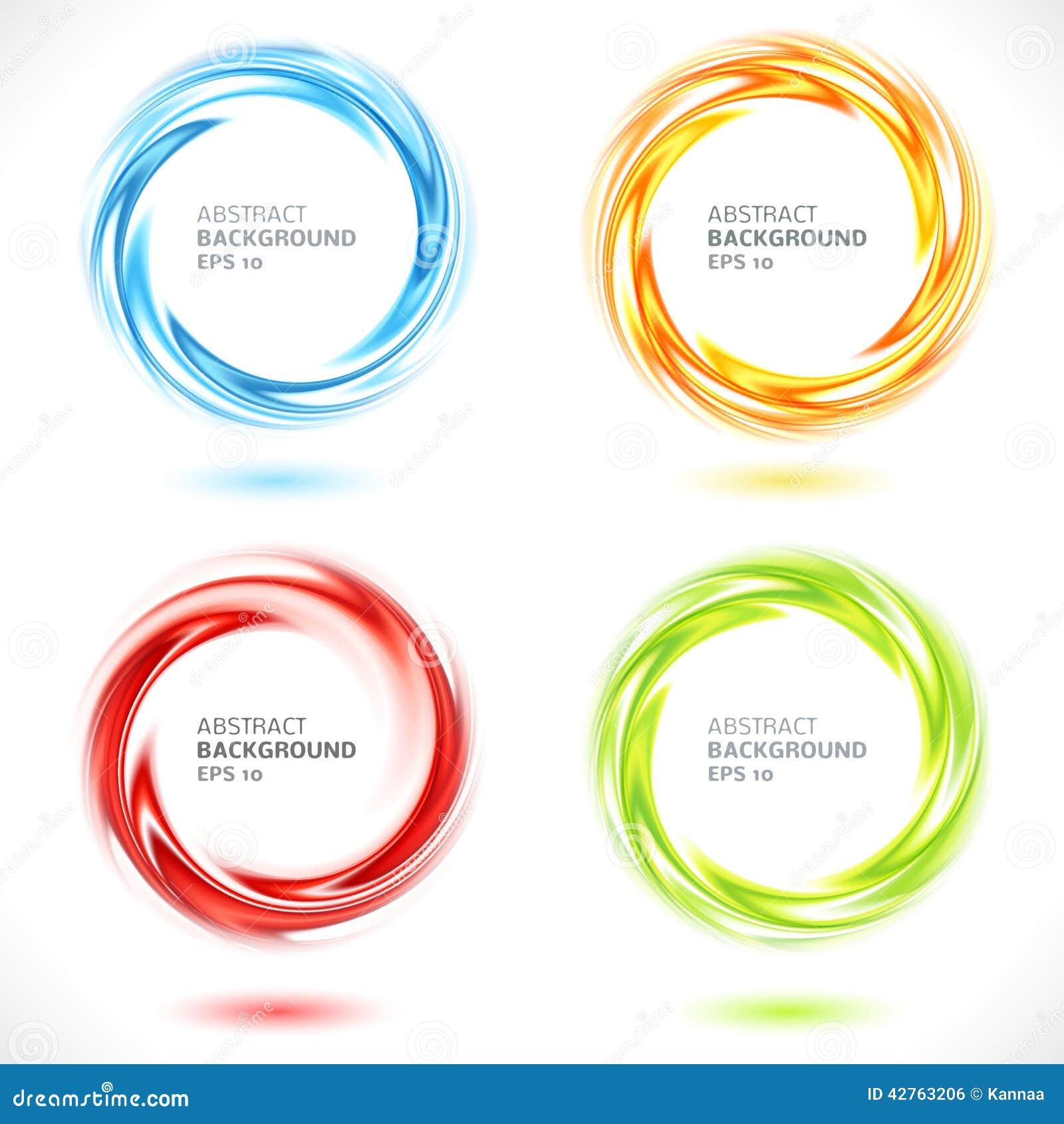 Sistema de fondo brillante del círculo abstracto del remolino