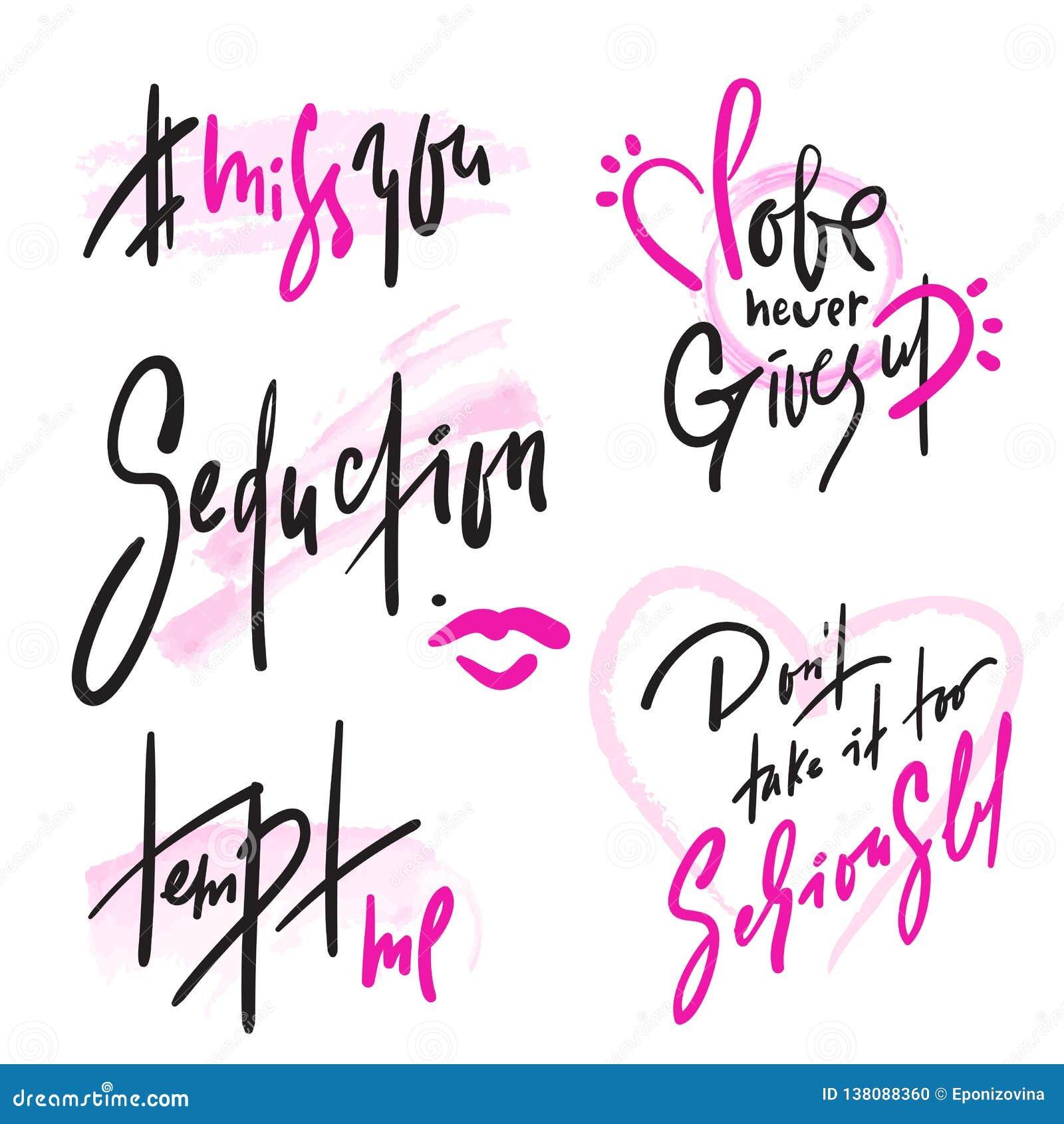Sistema De Frases Simples Del Amor Letras Hermosas Dibujadas