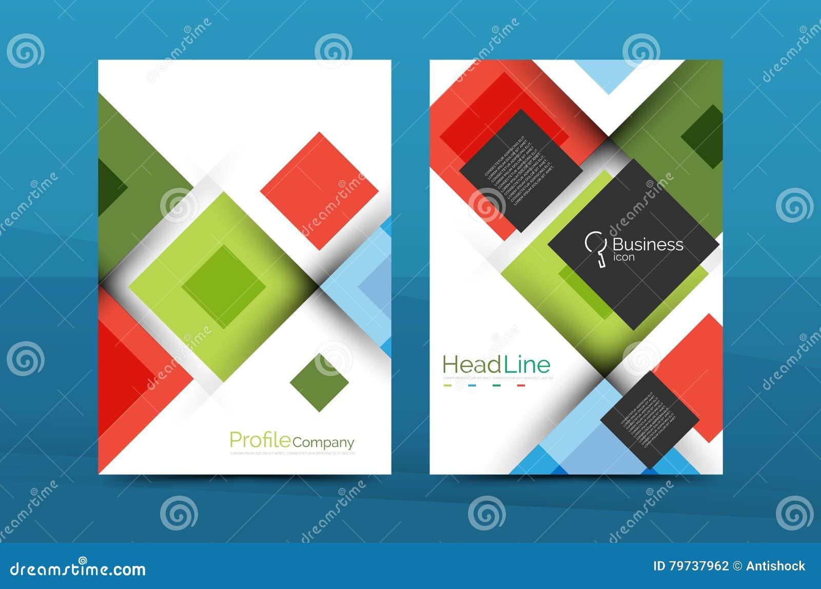 Sistema de frente y de las páginas traseras del tamaño a4, plantillas del diseño del informe anual del negocio