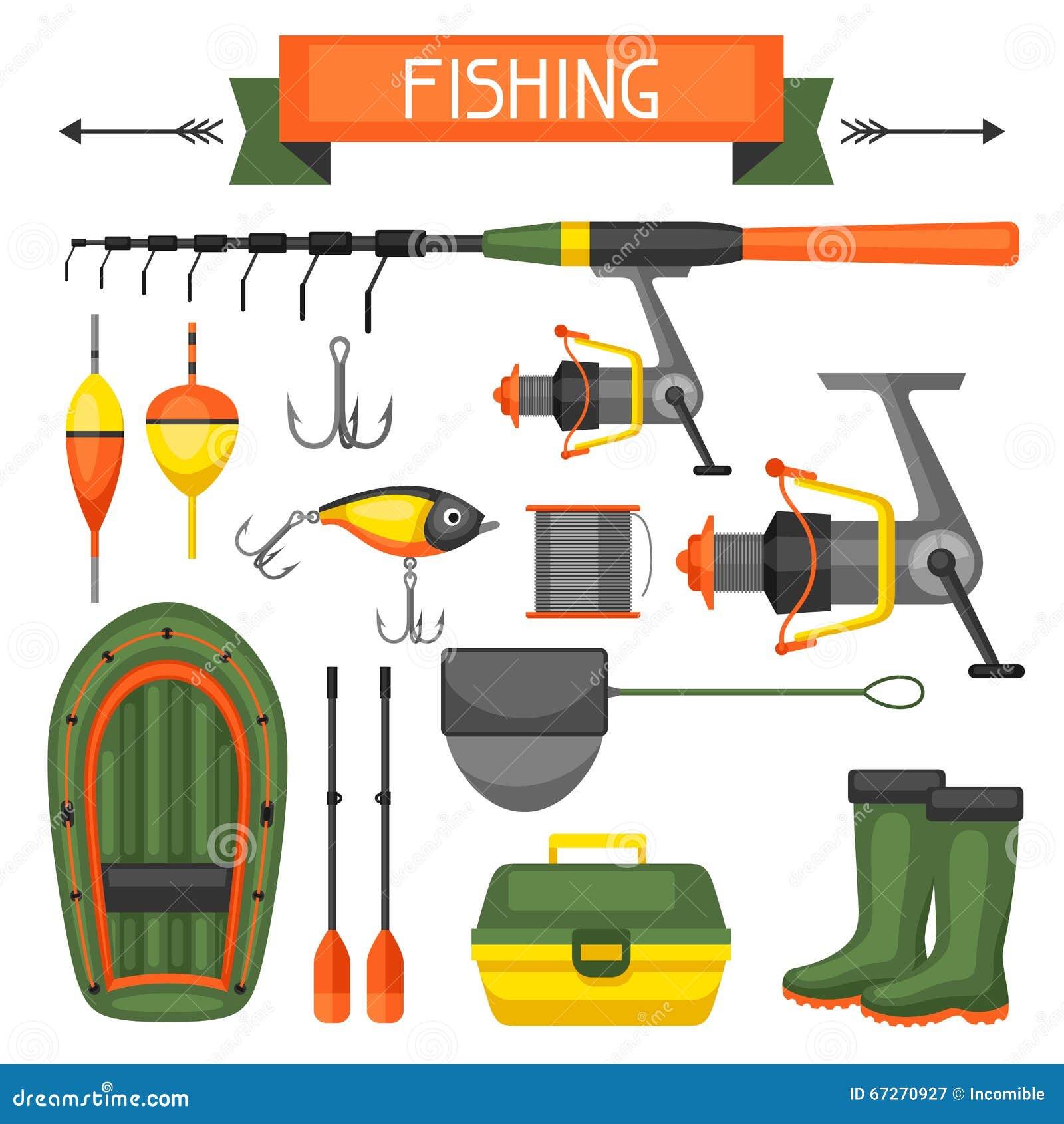Objetos De Decoracion De Dise?o ~ Sistema de fuentes de la pesca Objetos para la decoraci?n, dise?o en