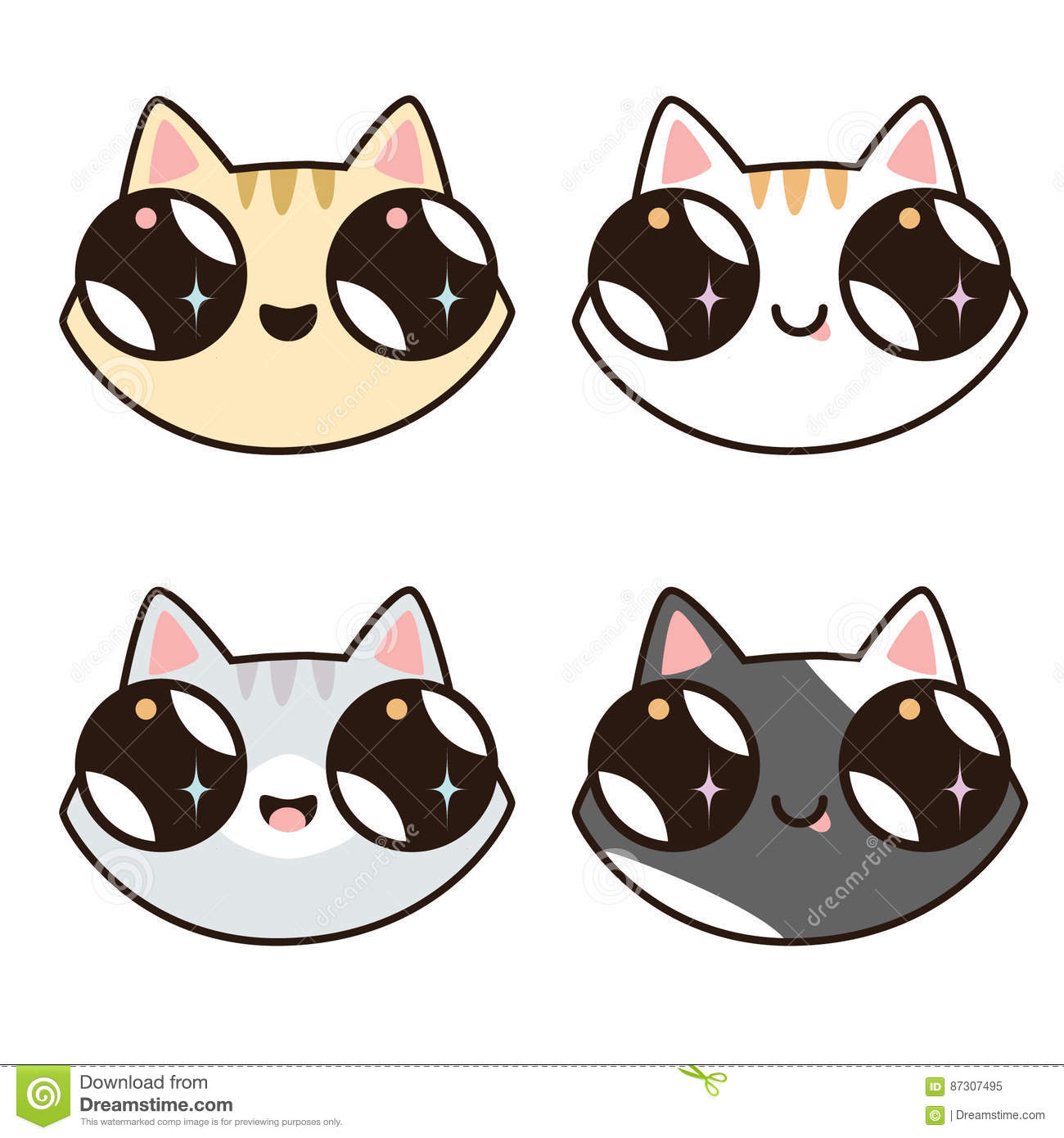 Cute Cat Faces For Halloween