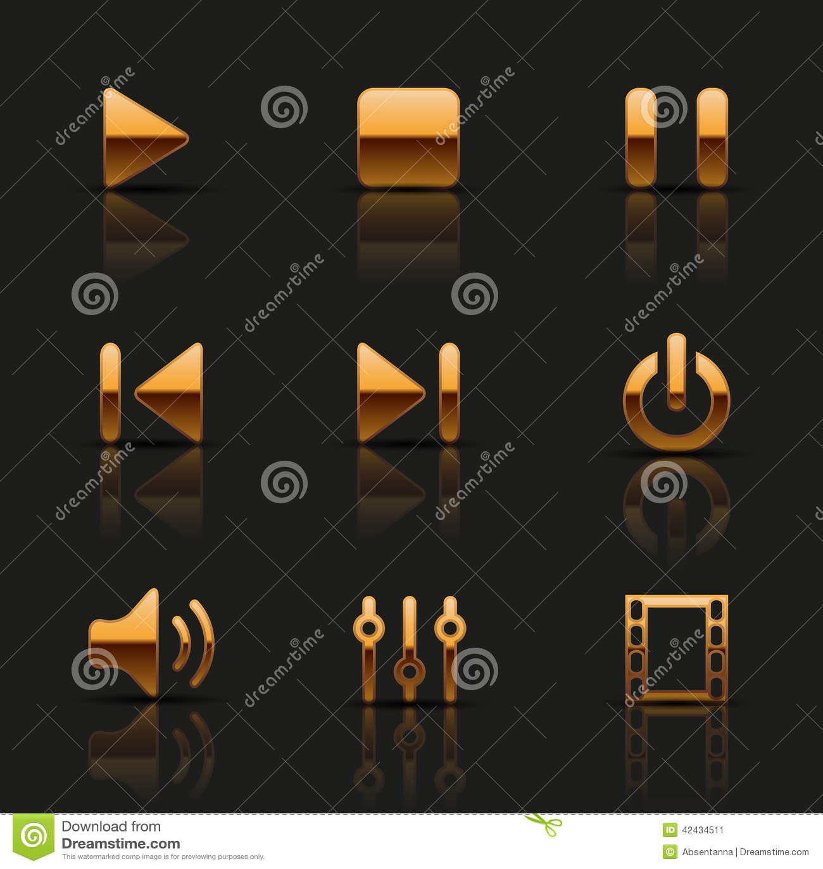 Sistema de iconos de oro