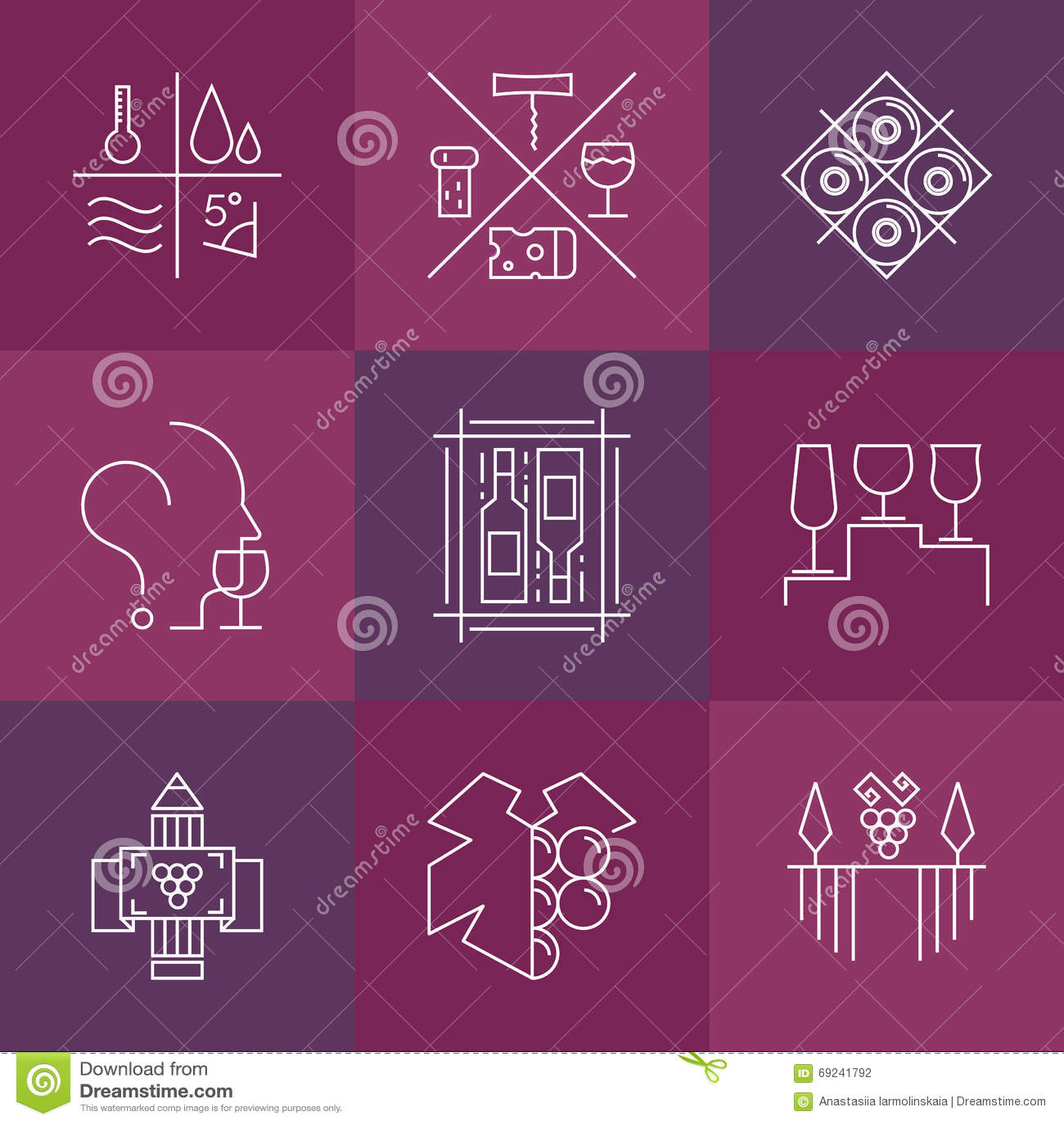 Sistema de iconos del vino y de la vinificación