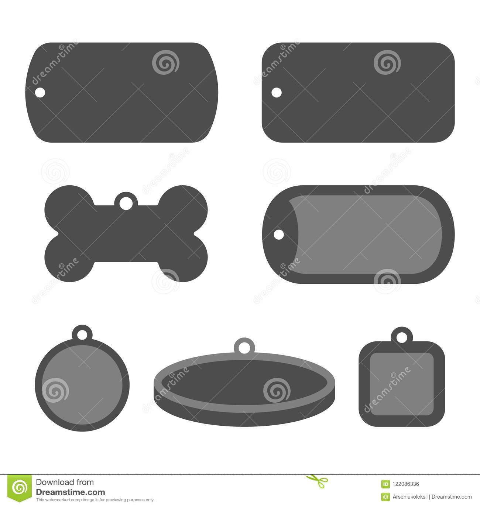 Sistema de insignias de la identificación de la placa de identificación Etiquetas de la identificación