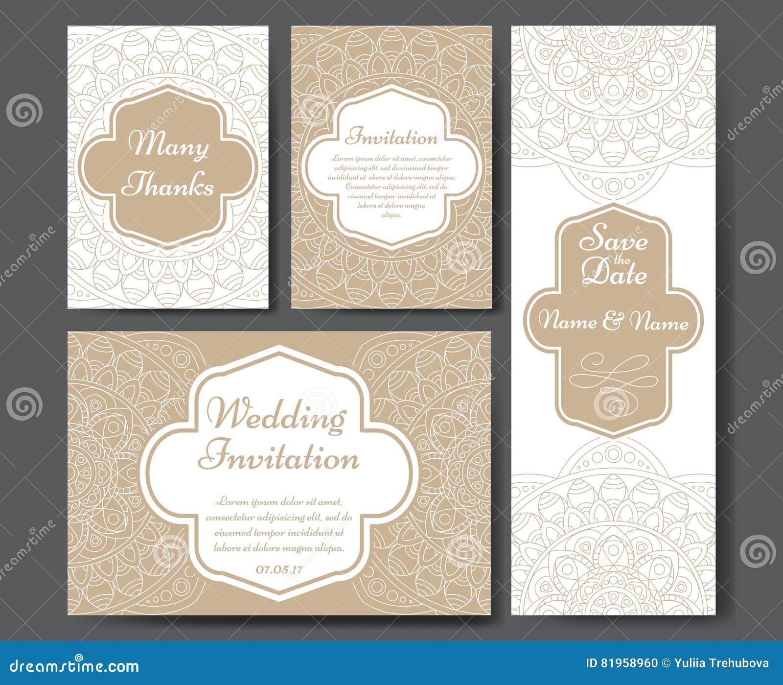 Sistema de invitaciones de la boda Plantilla de las invitaciones de boda con concepto individual Diseñe para la invitación, graci