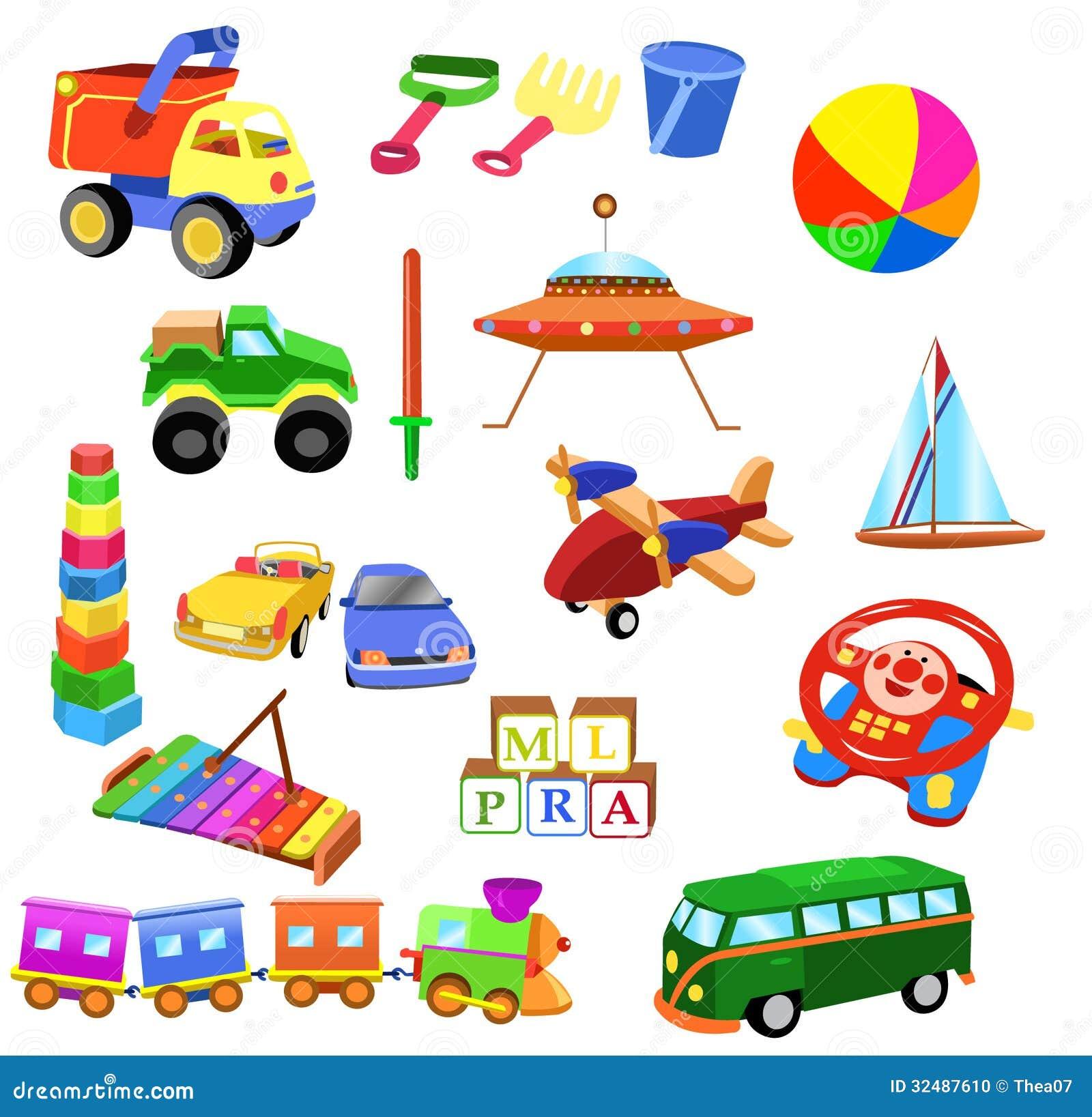 Girl Toys Clip Art : Sistema de juguetes foto archivo imagen