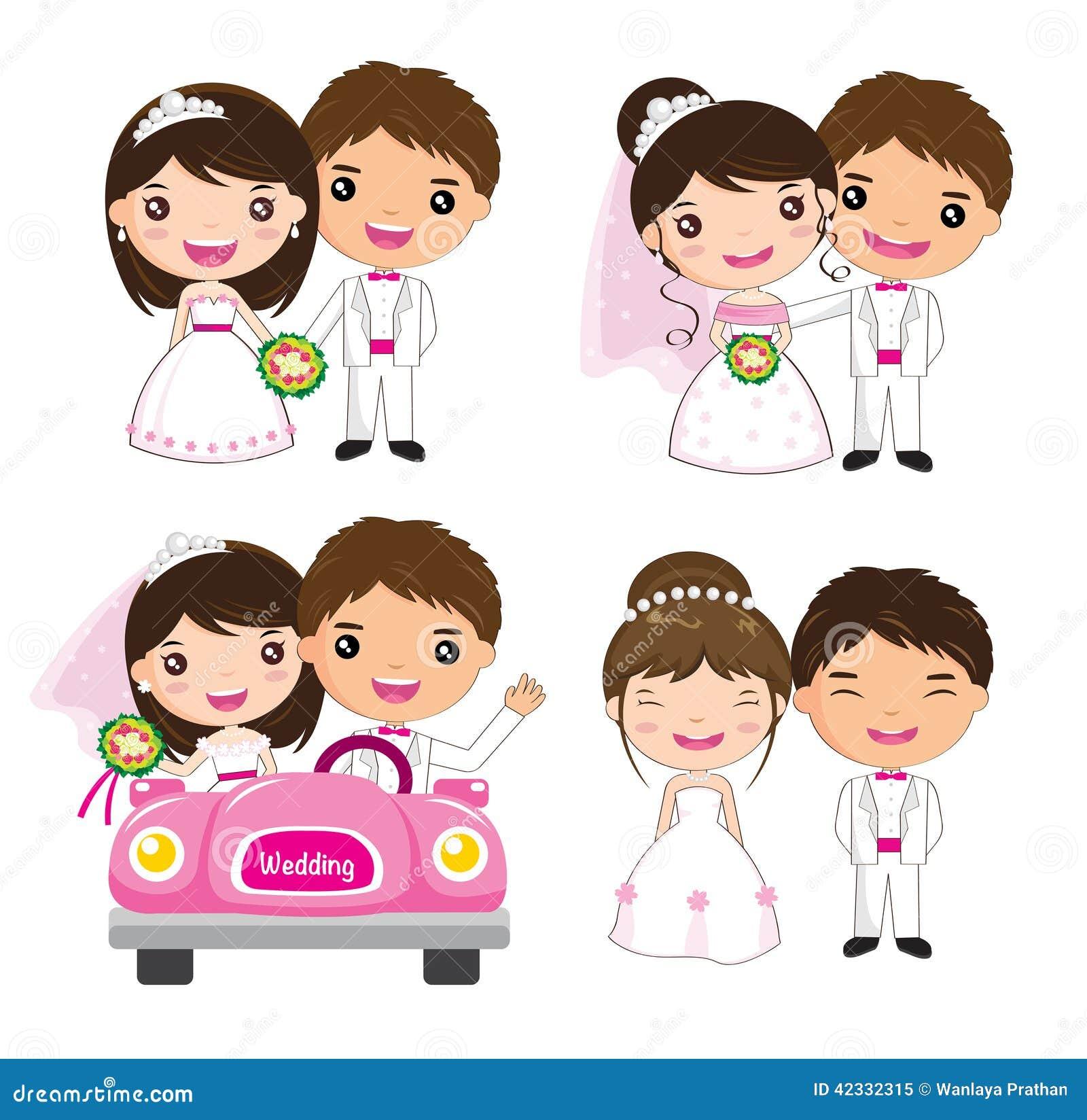 Sistema de la boda de la historieta