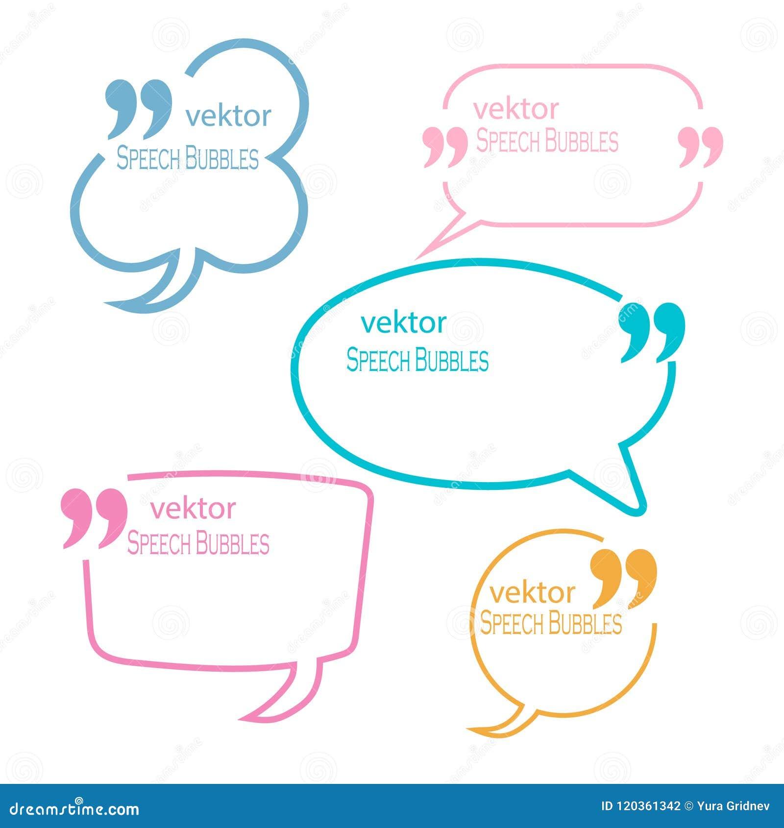 Sistema de la cita Mark Speech Bubbles