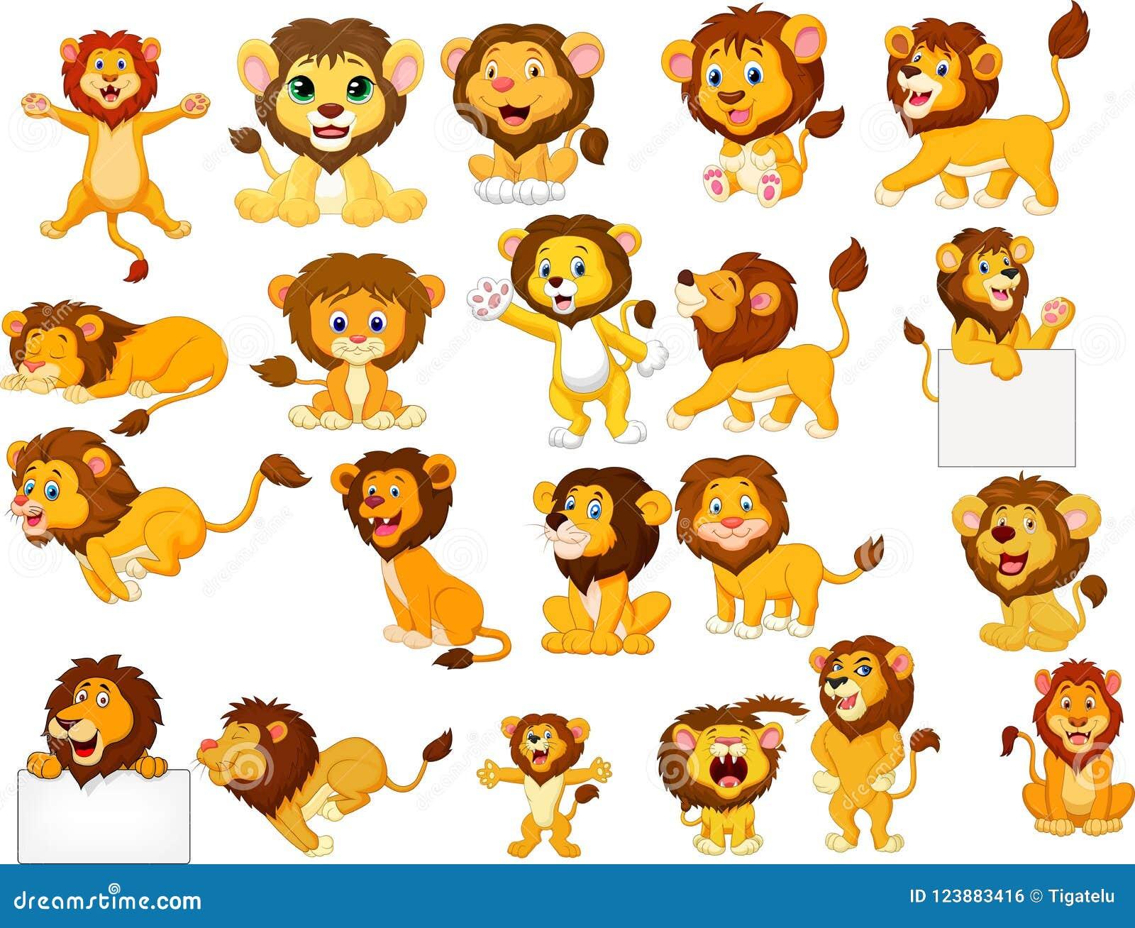 Sistema de la colección de los leones de la historieta