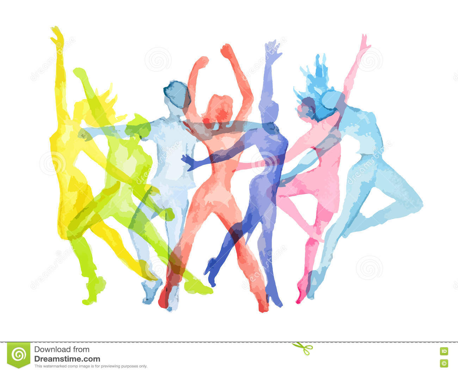 Sistema de la danza de la acuarela
