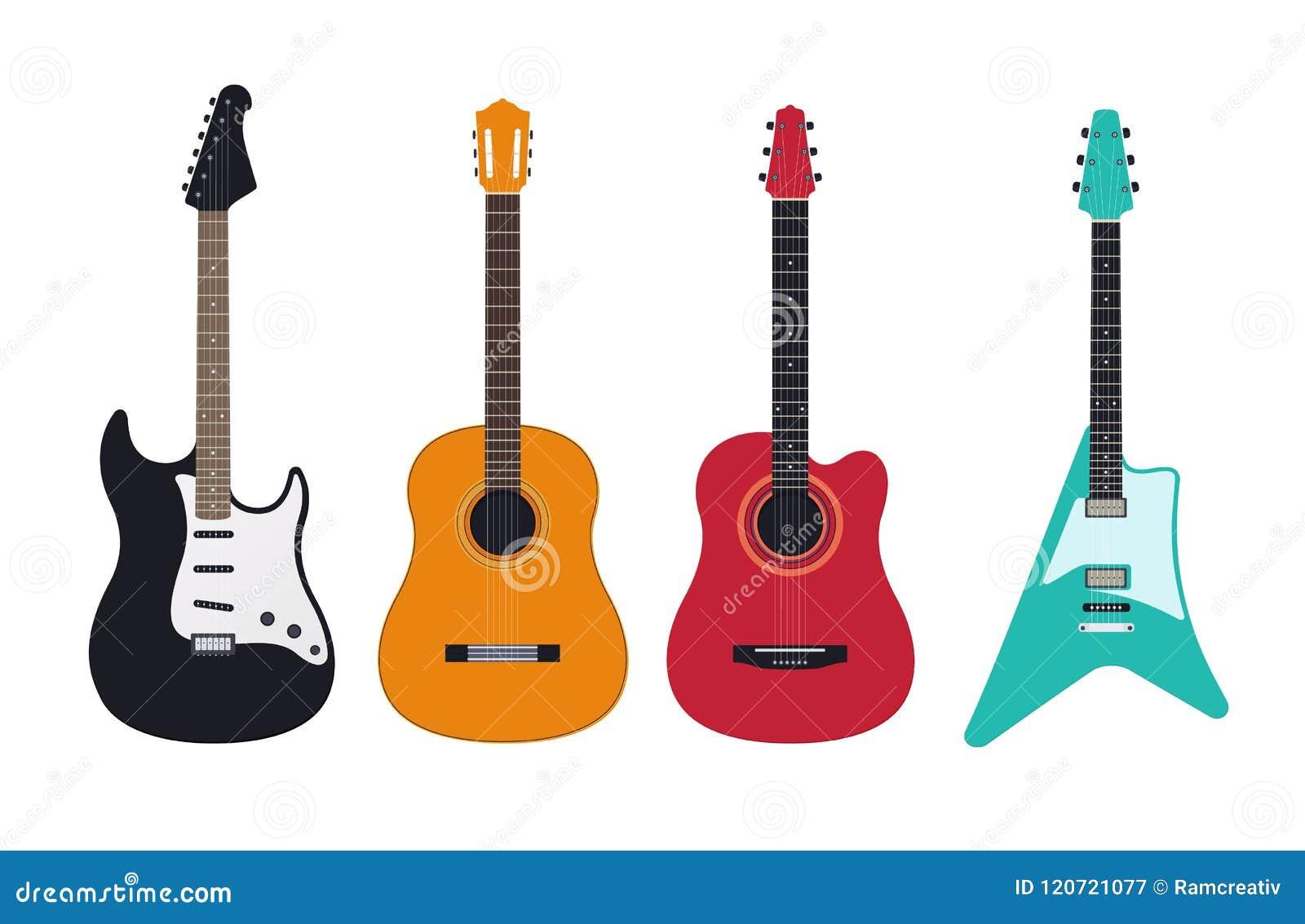 Sistema de la guitarra, guitarra acústica, clásica, eléctrica, electroacústica