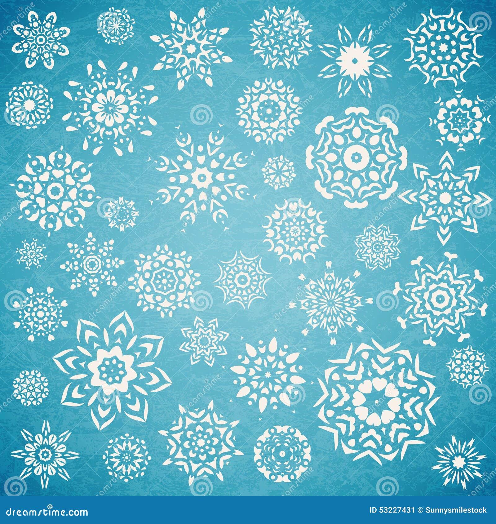 Sistema de la Navidad de copos de nieve