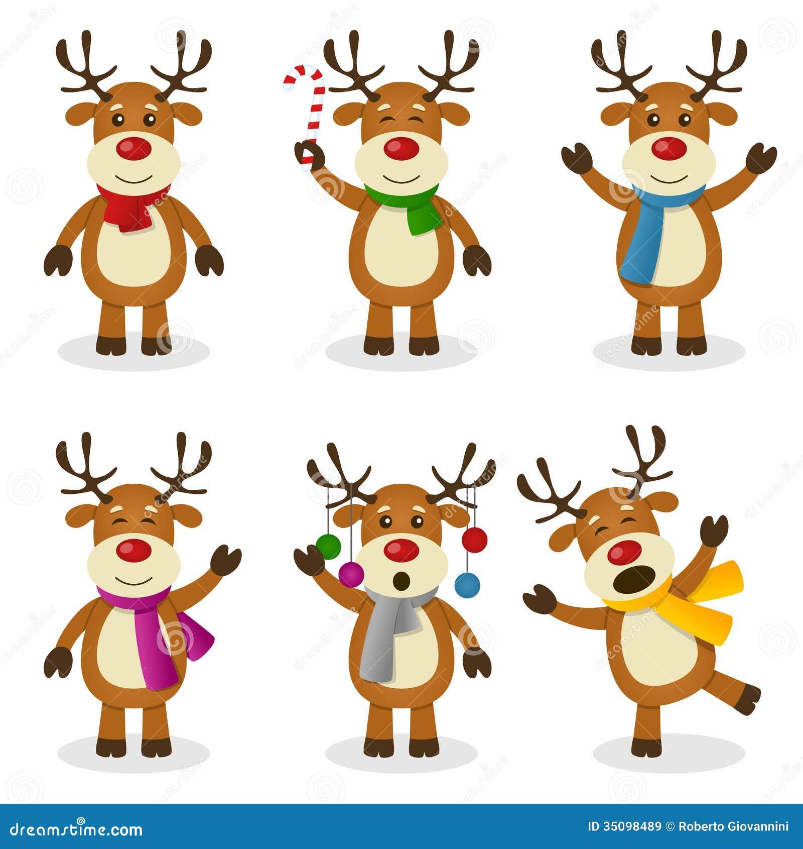 Sistema de la Navidad de la historieta del reno