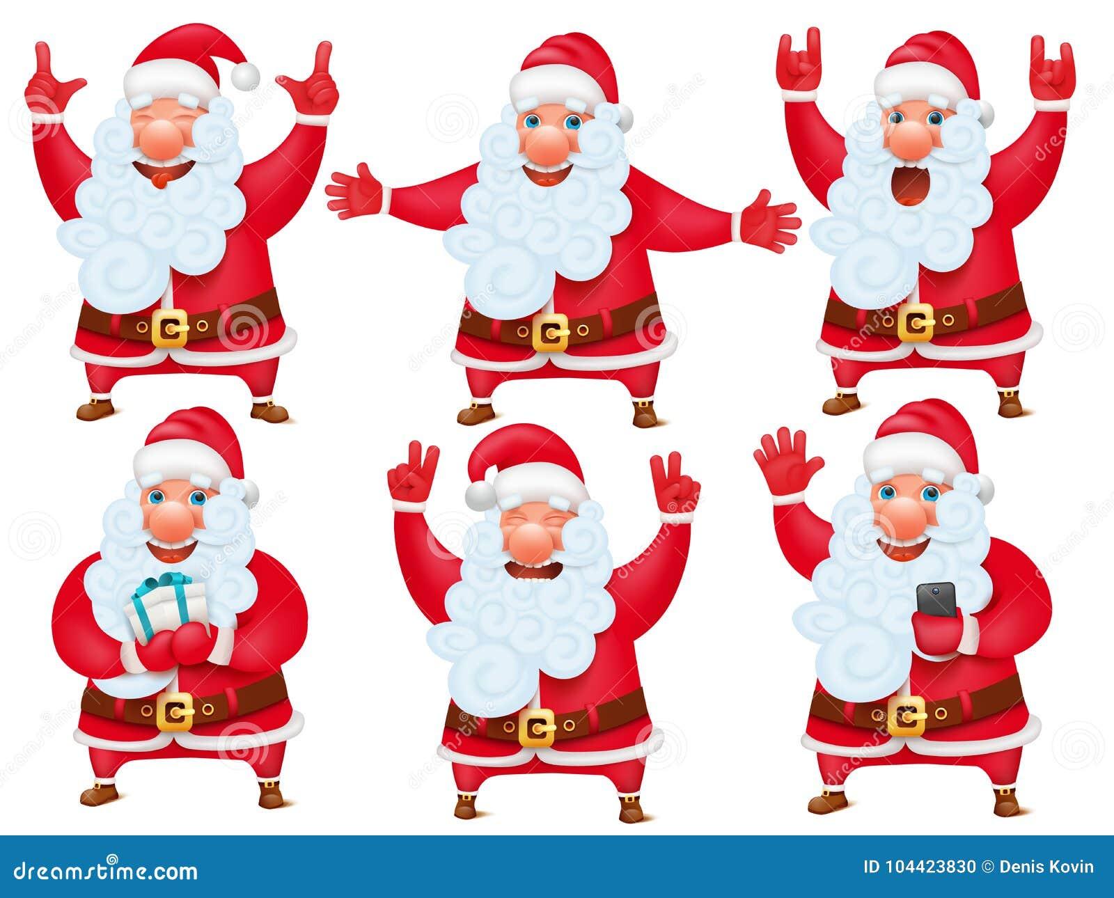 Imagenes De Papa Noel De Navidad.Sistema De La Navidad Del Ano Nuevo De Personaje De Dibujos