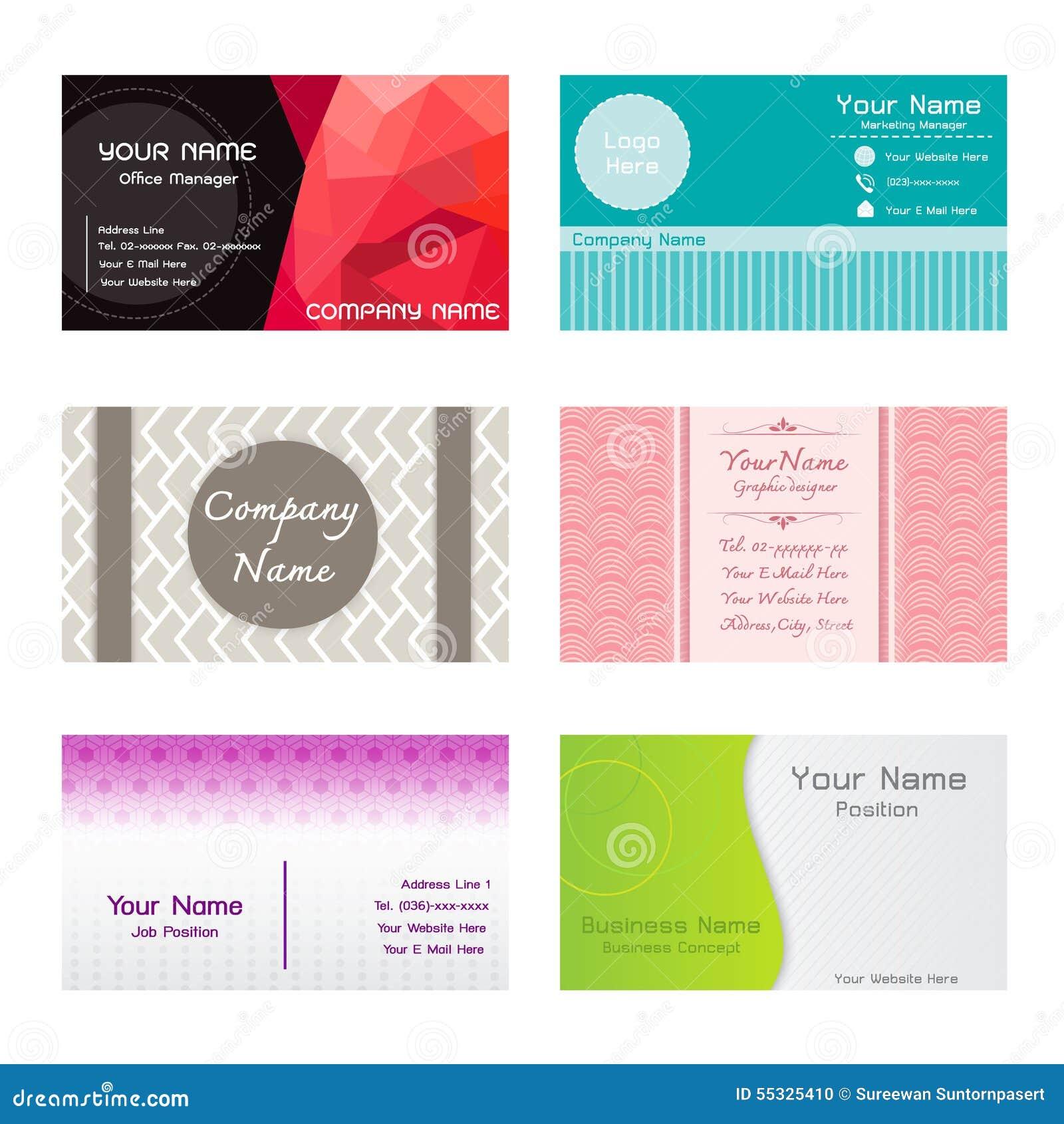 sistema de la plantilla de las tarjetas de presentación ilustración