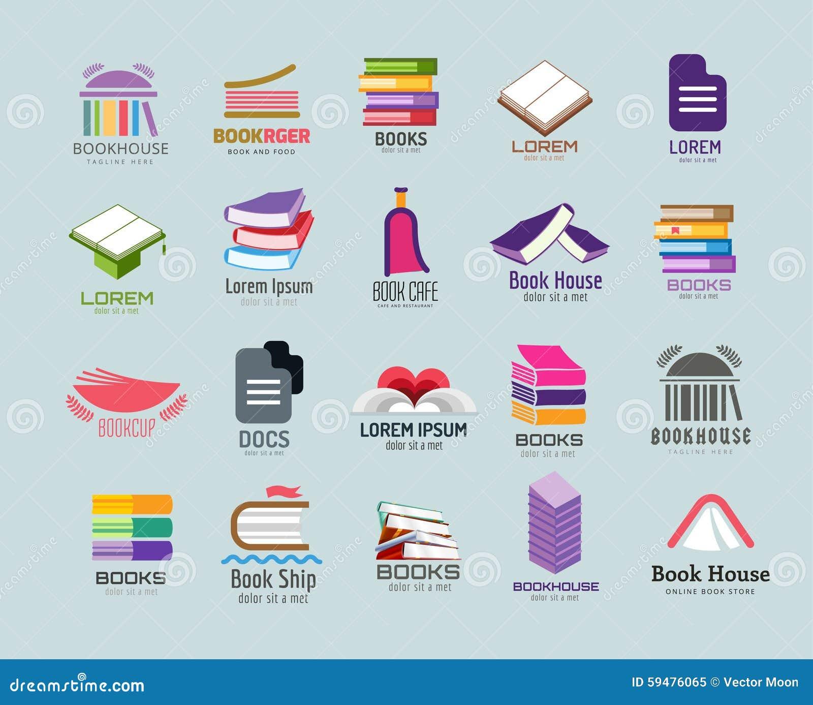 Sistema De La Plantilla Del Logotipo Del Vector Del Libro ...